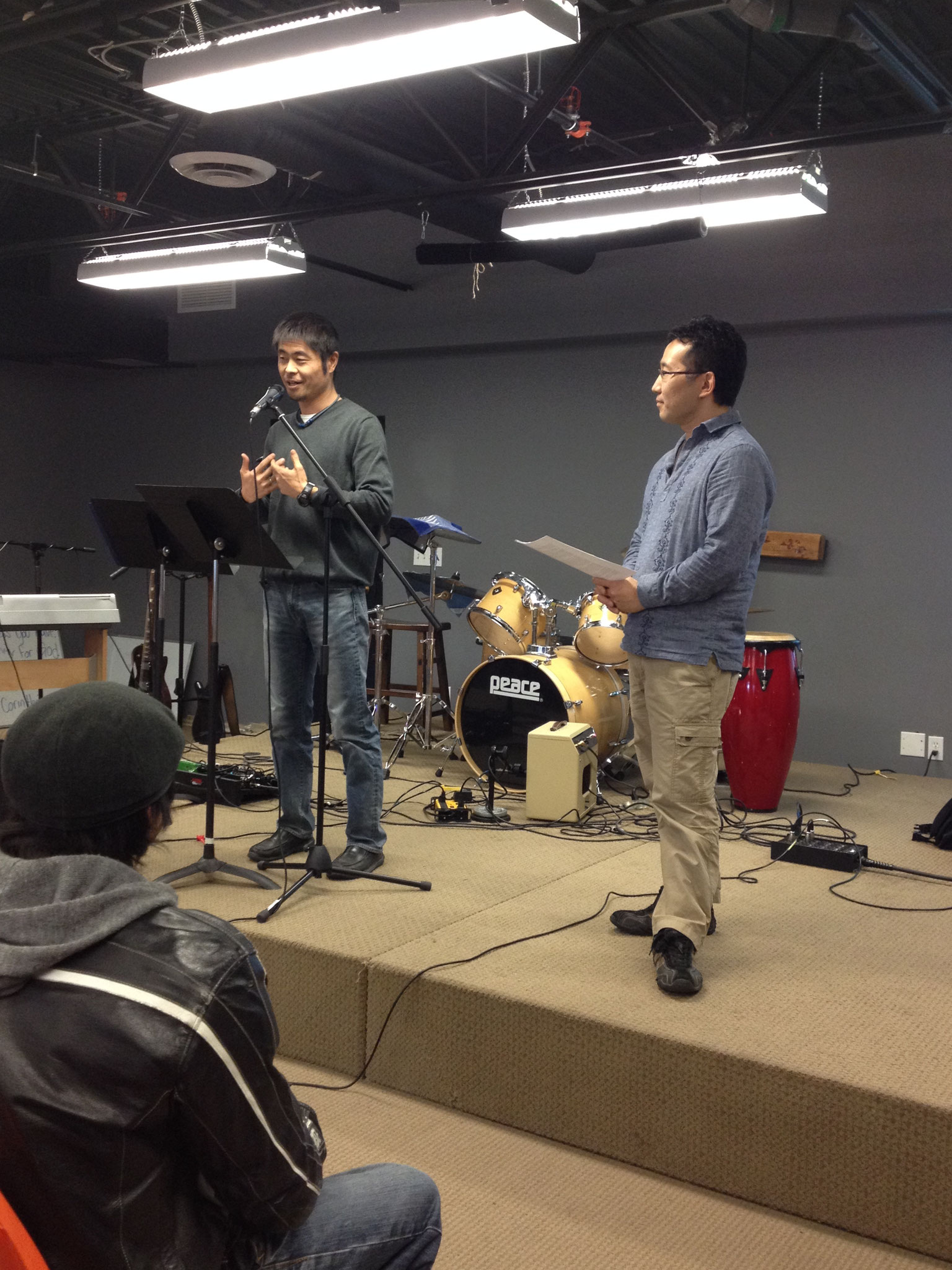 Nov,6th Kenji Kondo came to Crossover to speak about his ministry in Japan
