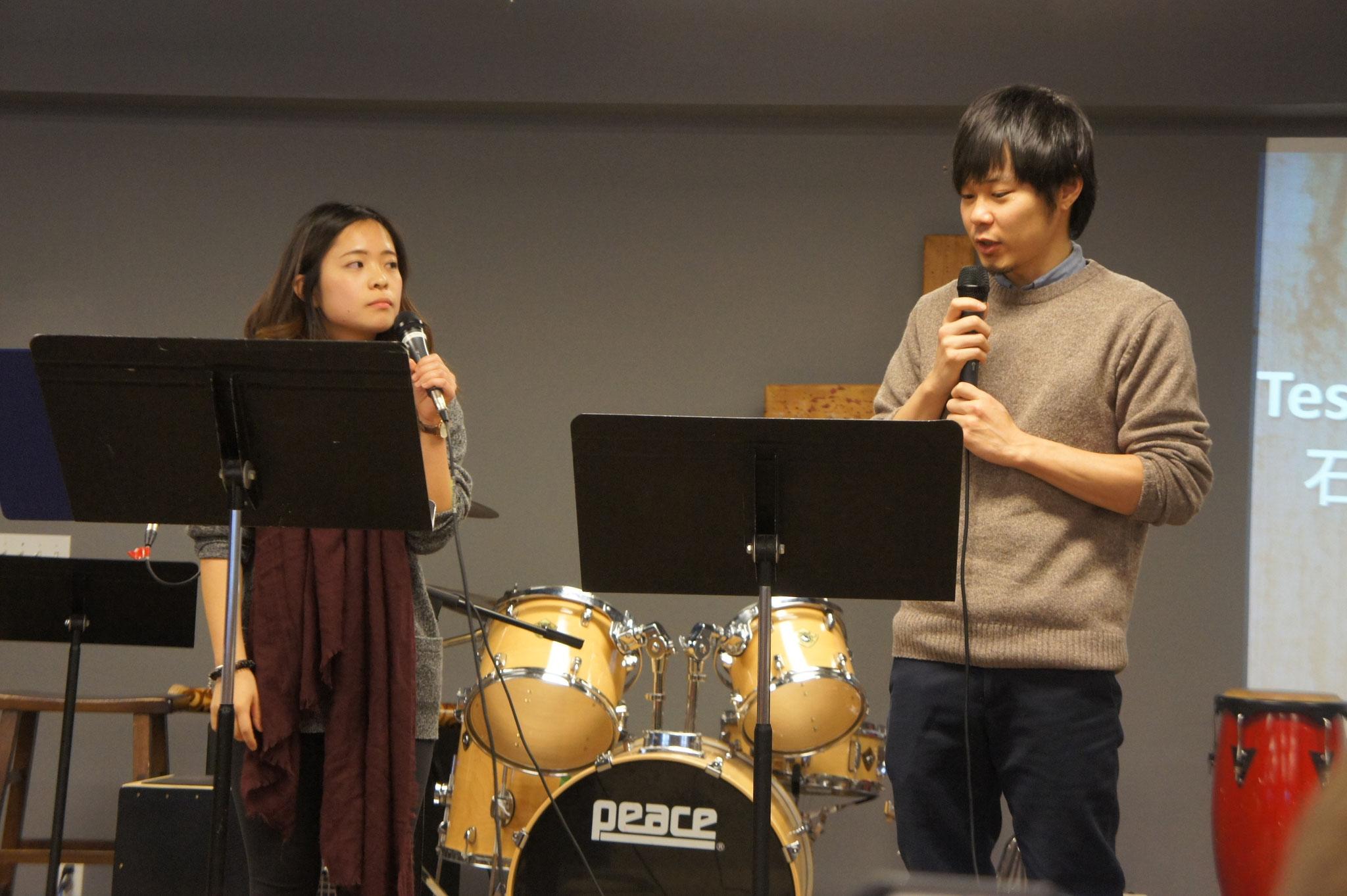 1/22 高橋桃佳さんが証してくださいました。Testimony by Momoka