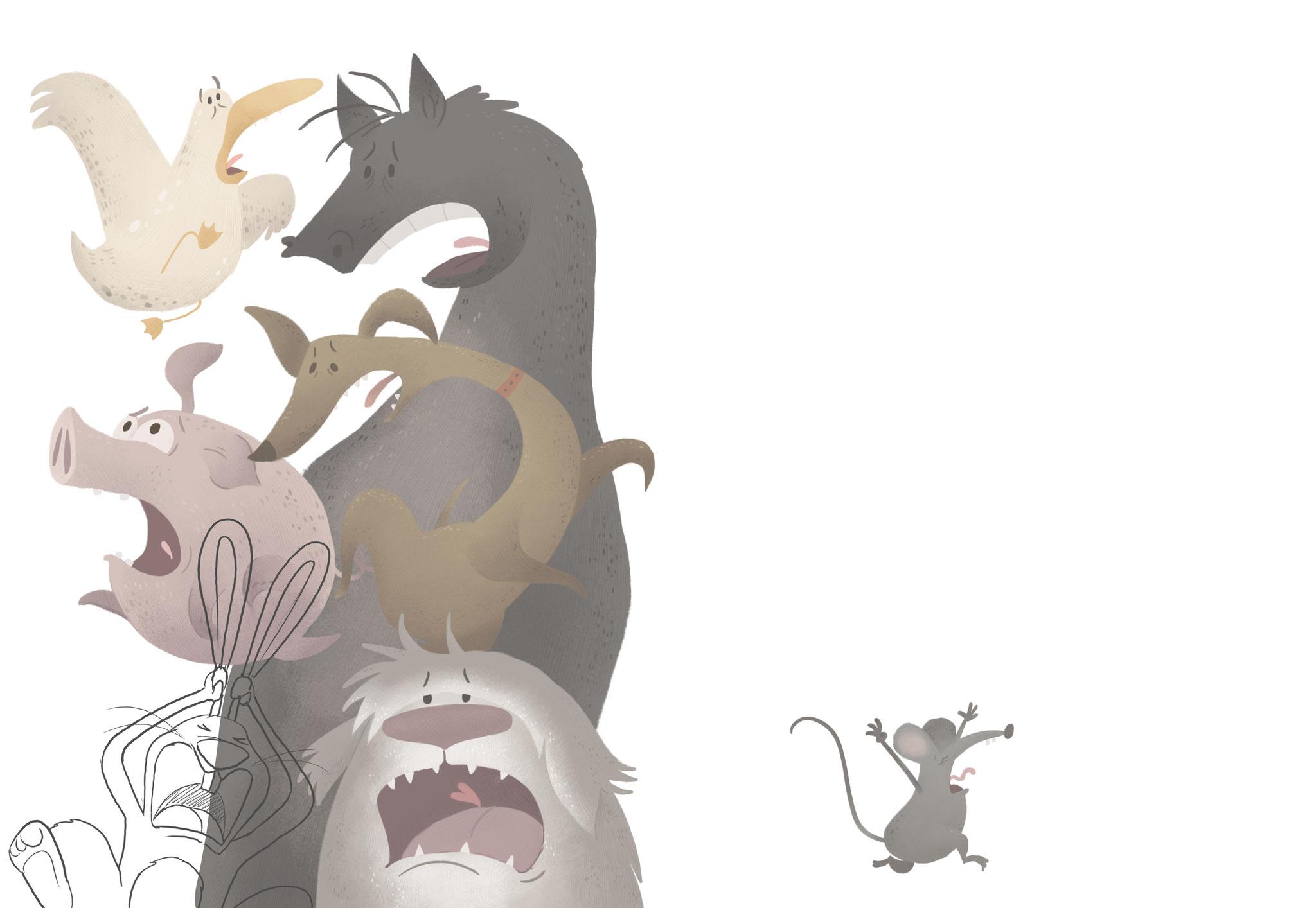 Children Book Illustration, Andri Hinnen, Johann der Hahn