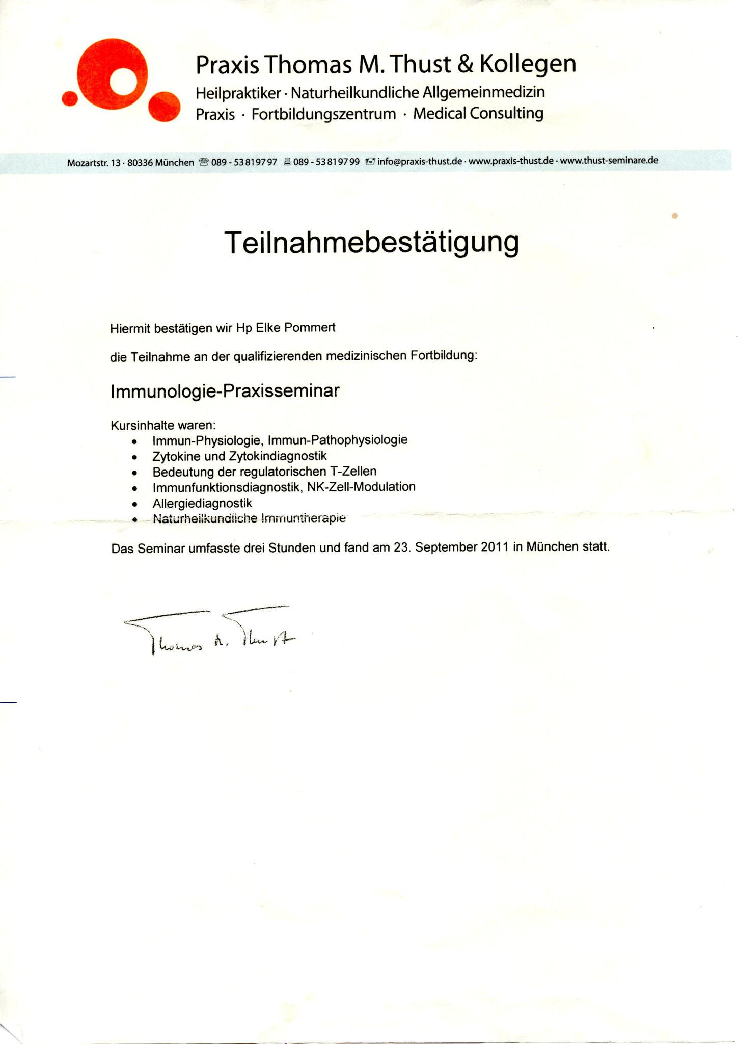 Immunologie-Praxisseminar