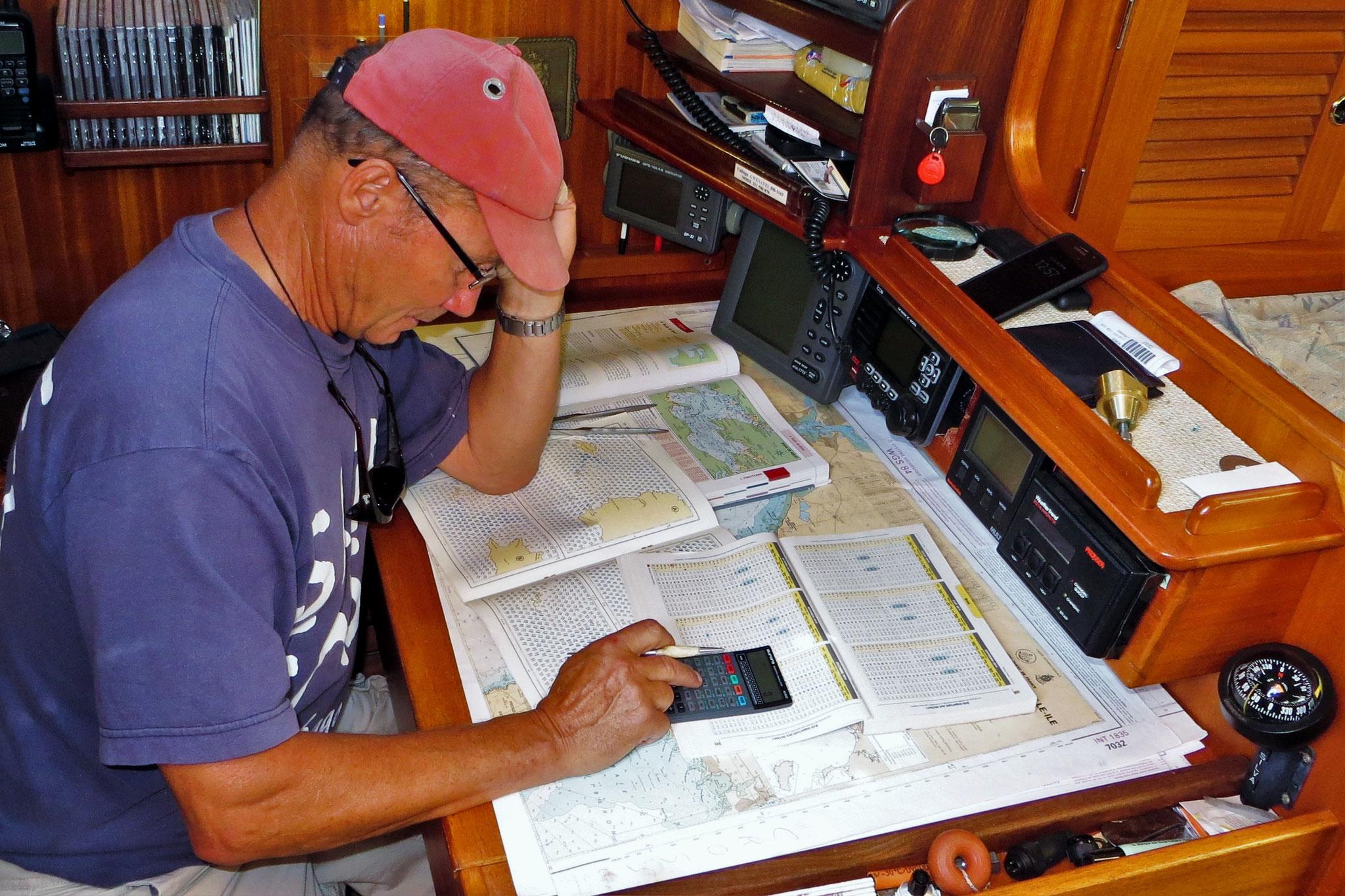 Segeln in Gezeitengewässern erfordert meist eine gute Vorbereitung am Kartentisch