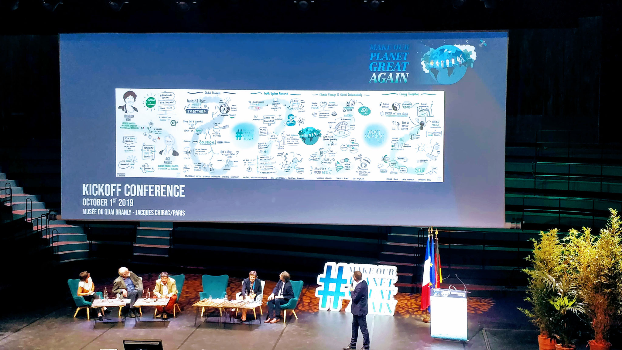 Scribing Conférence #MakeOurPlanetGreatAgain, Musée Quai Branly