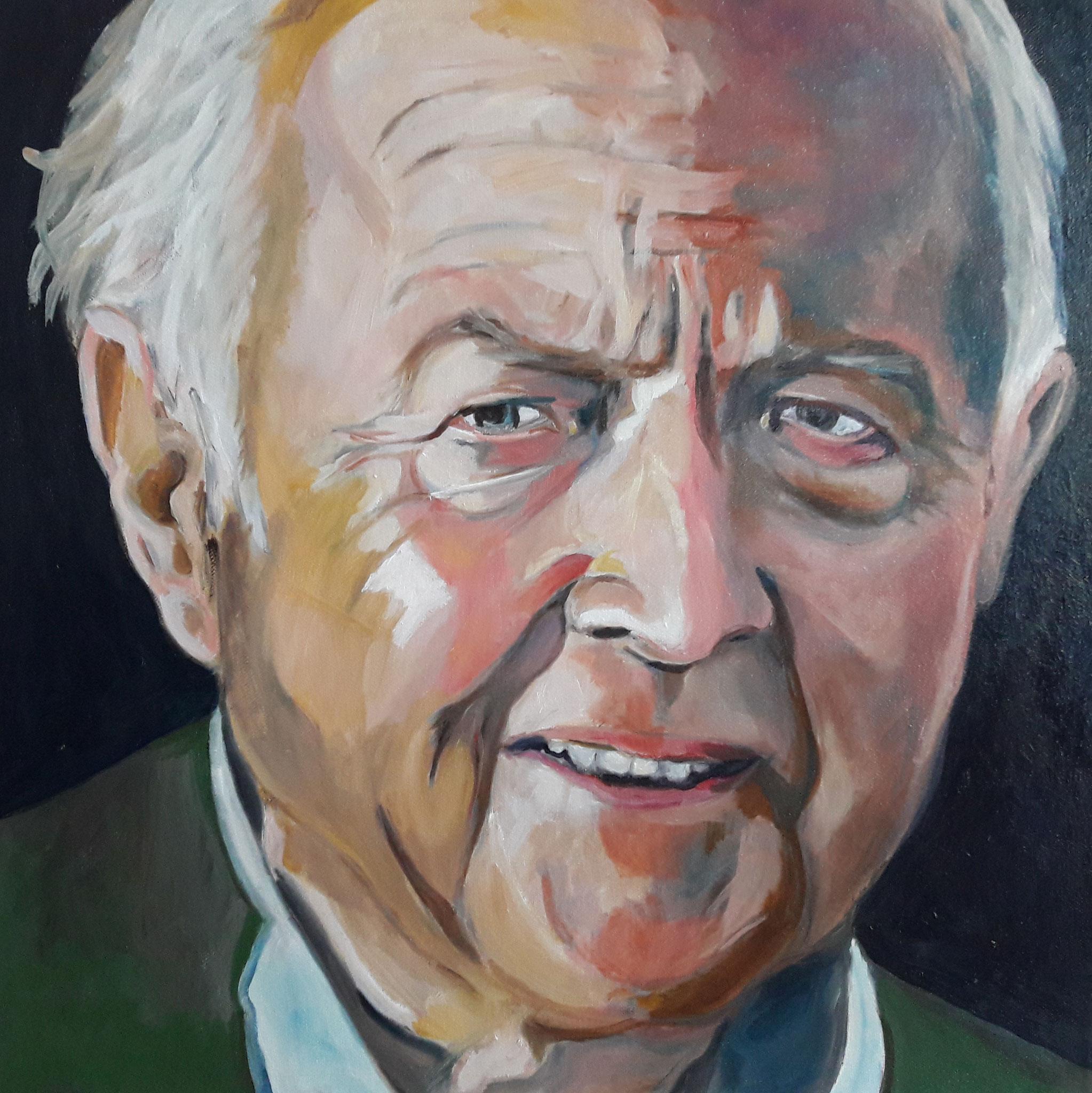 """""""Mein Vater"""", Öl auf Leinwand, 50 x 50 cm, unverkäuflich"""