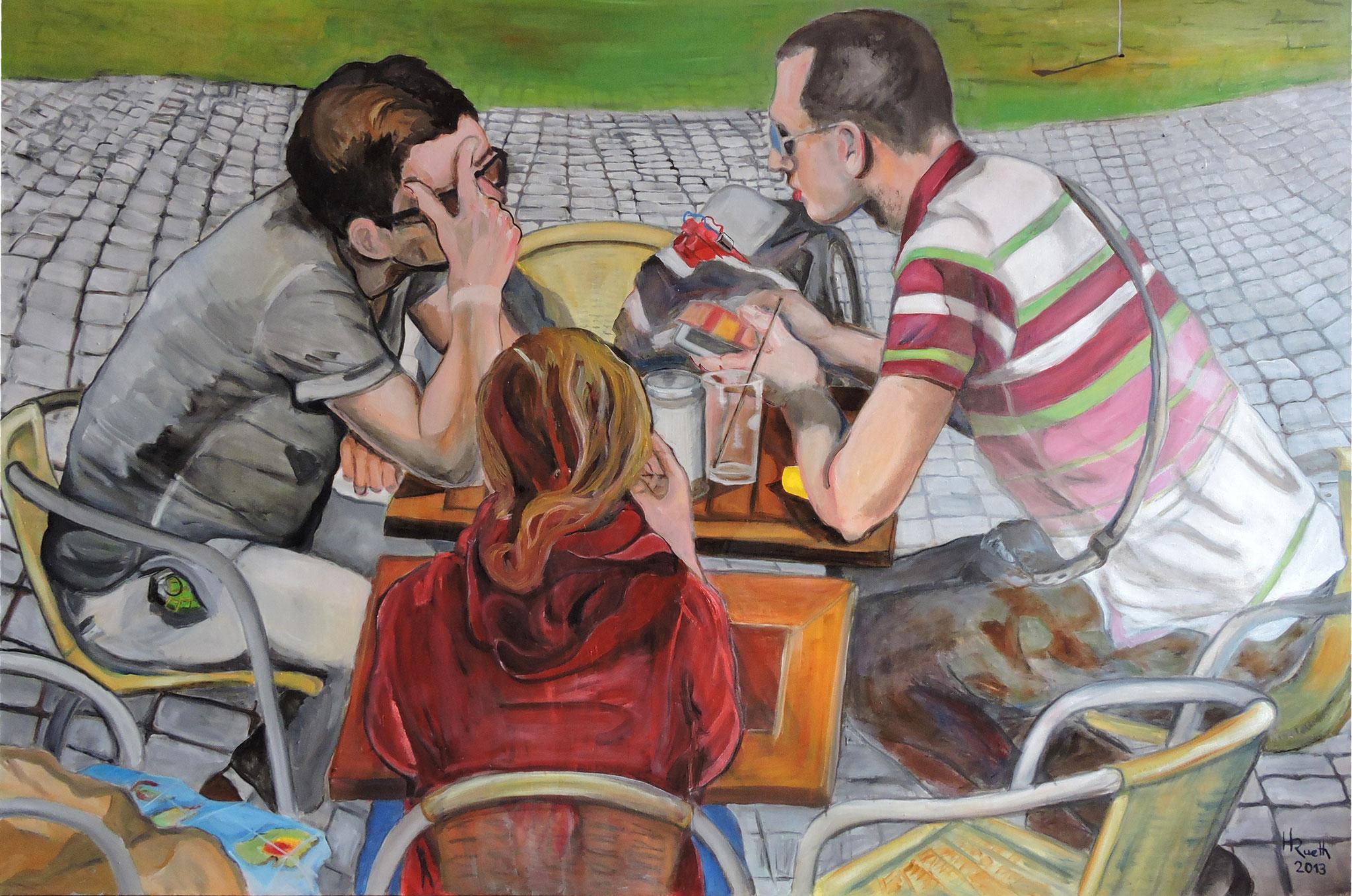 "Nr.14,"" Der Plan"", Öl auf Leinwand, 100 x 150 cm................................2400,- Euro"