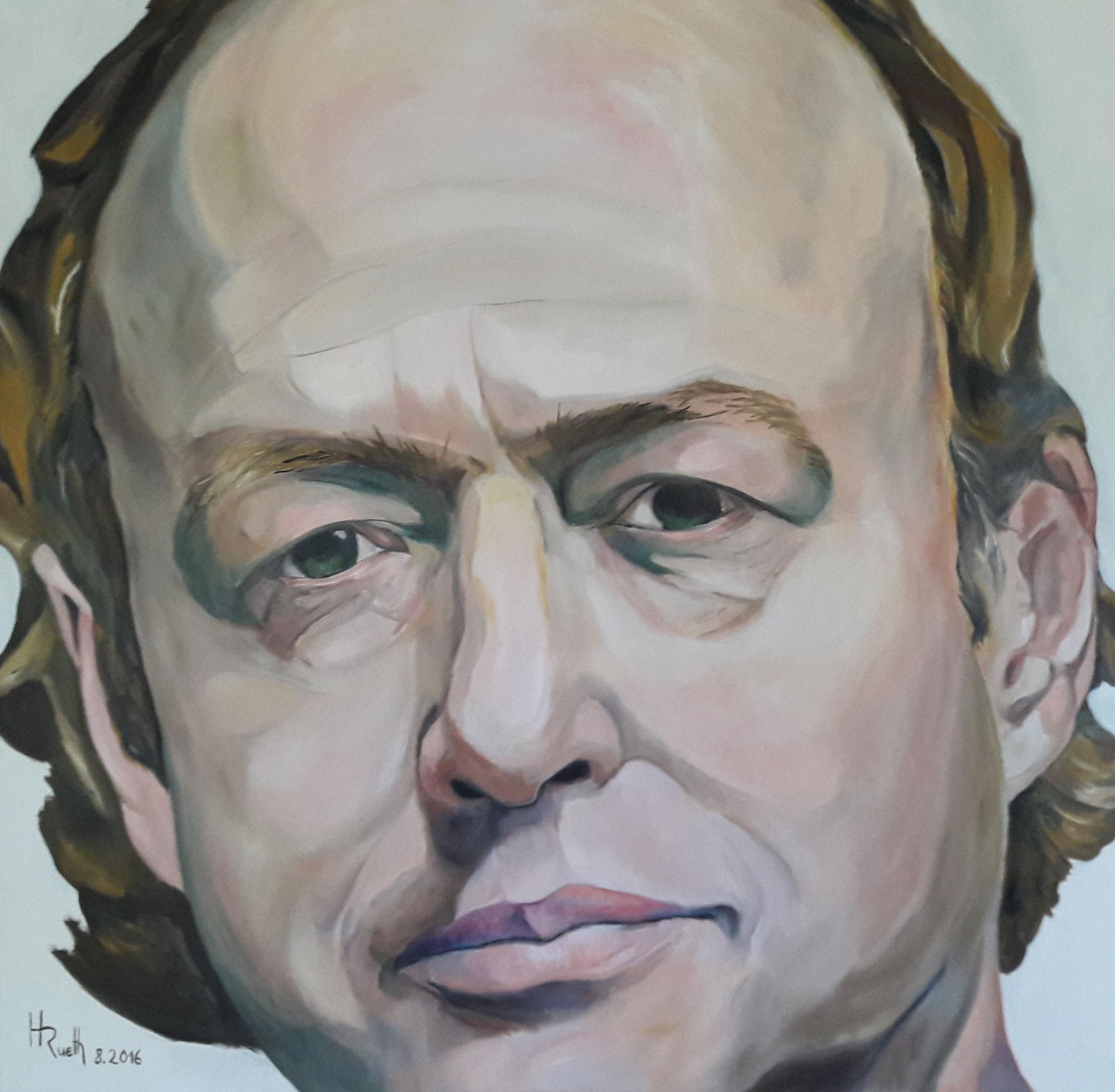 """""""Portrait"""", Öl auf Leinwand, 160x160 cm, 2016, unverkäuflich"""