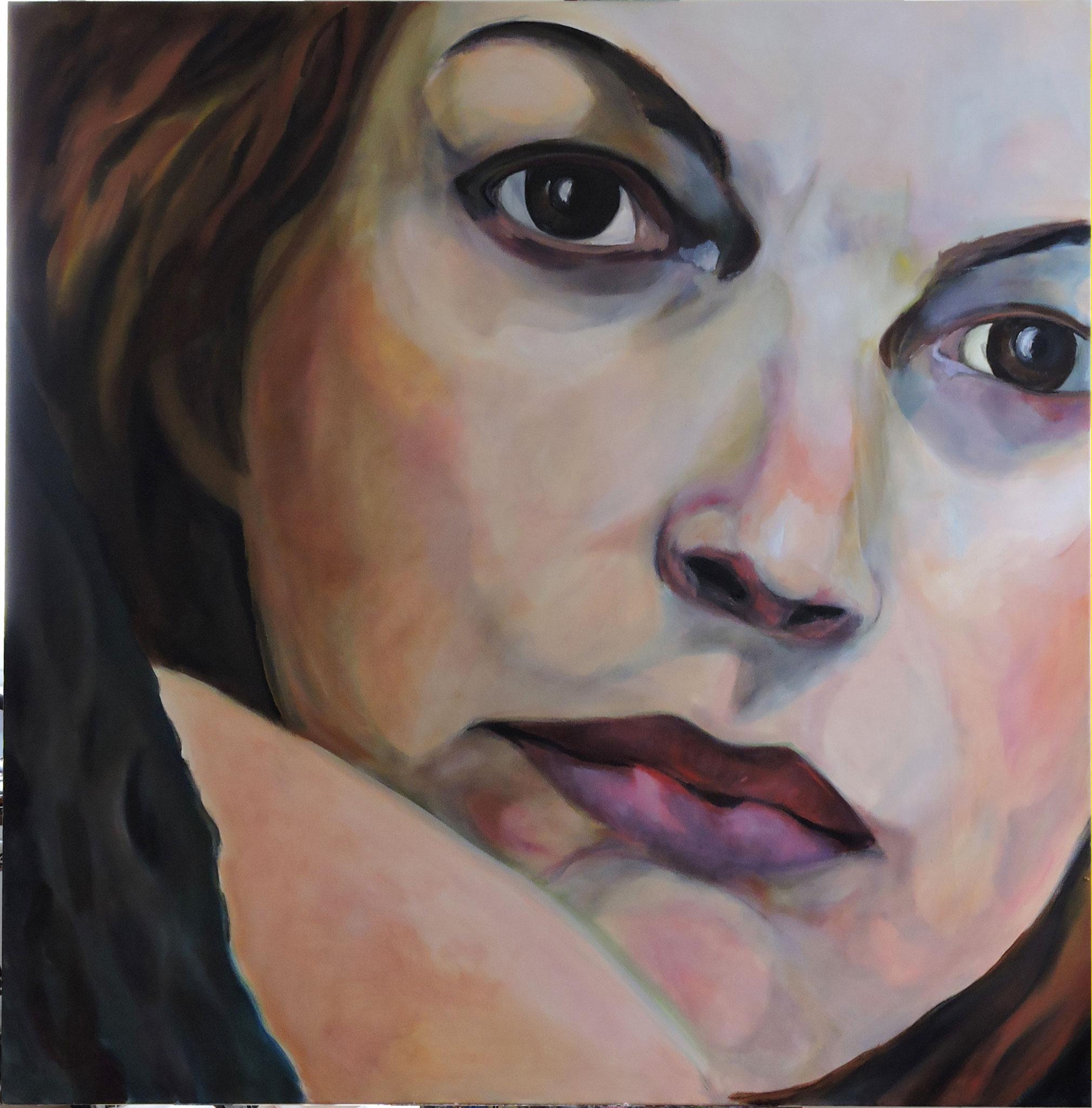 """Il pensiero"", Öl auf Leinwand, 160x160 cm, 2015"