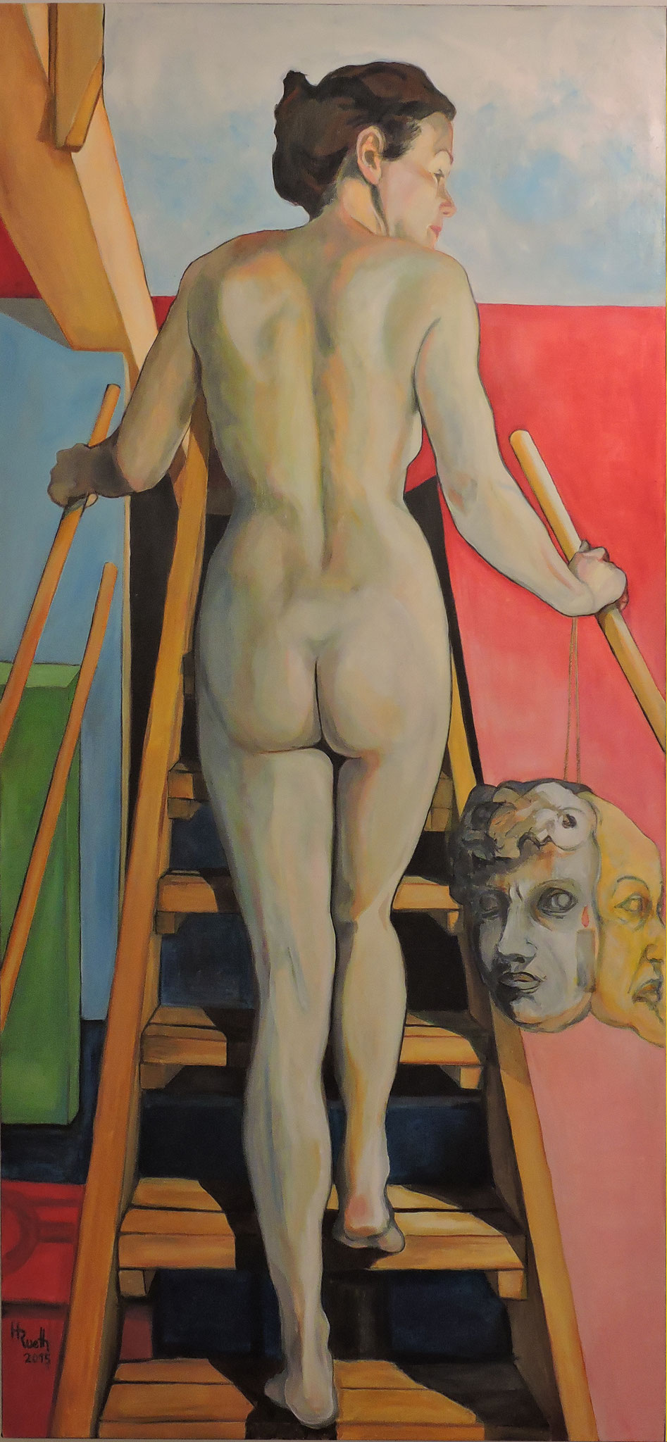 """""""Die Entscheidung"""", Öl auf Leinwand, 100 x 210 cm, 2015.   € 5900,00 (inkl.MwSt)"""