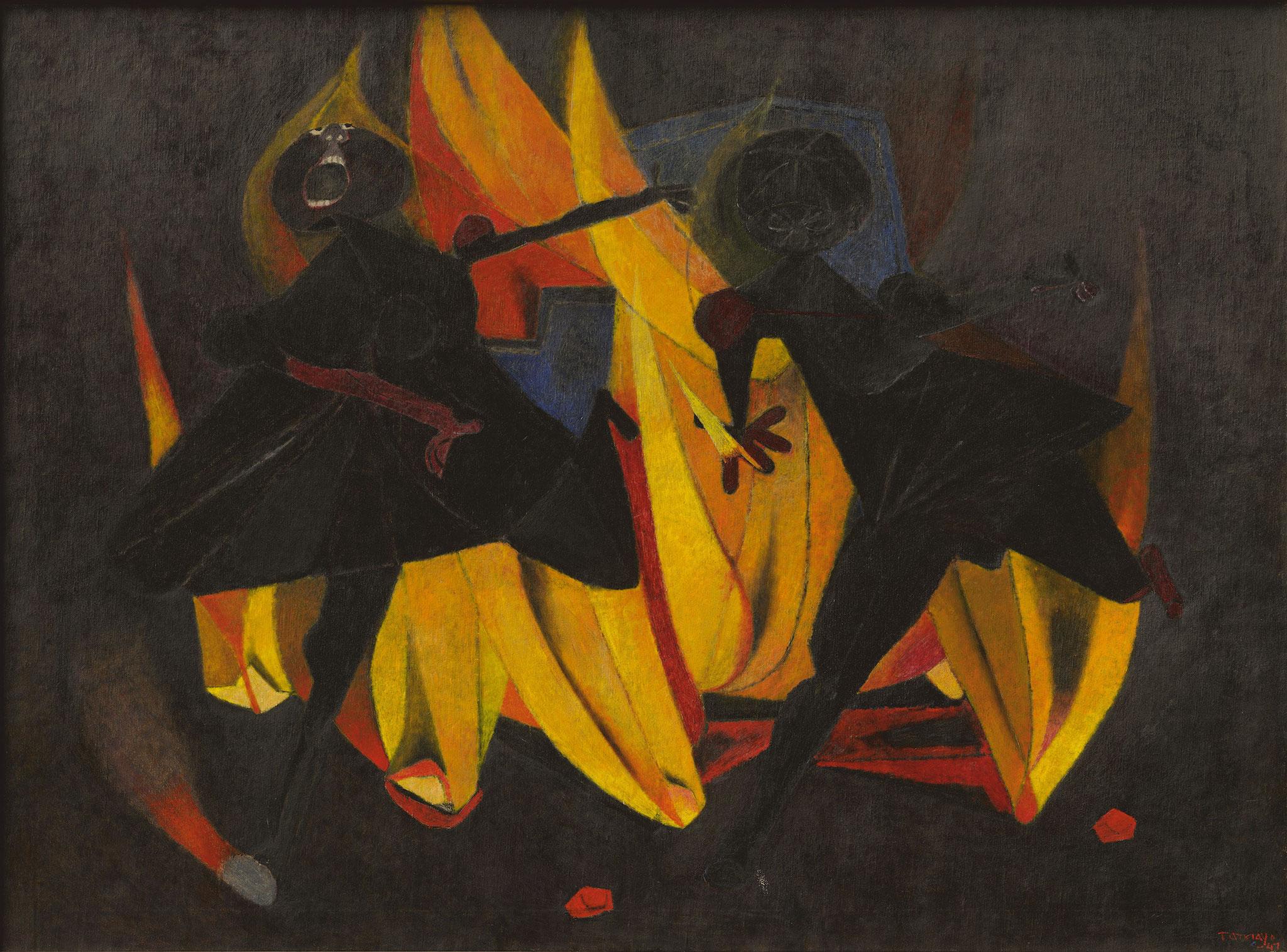Rufino Tamayo: Kinder, die mit dem Feuer spielen, 1947, Privatsammlung