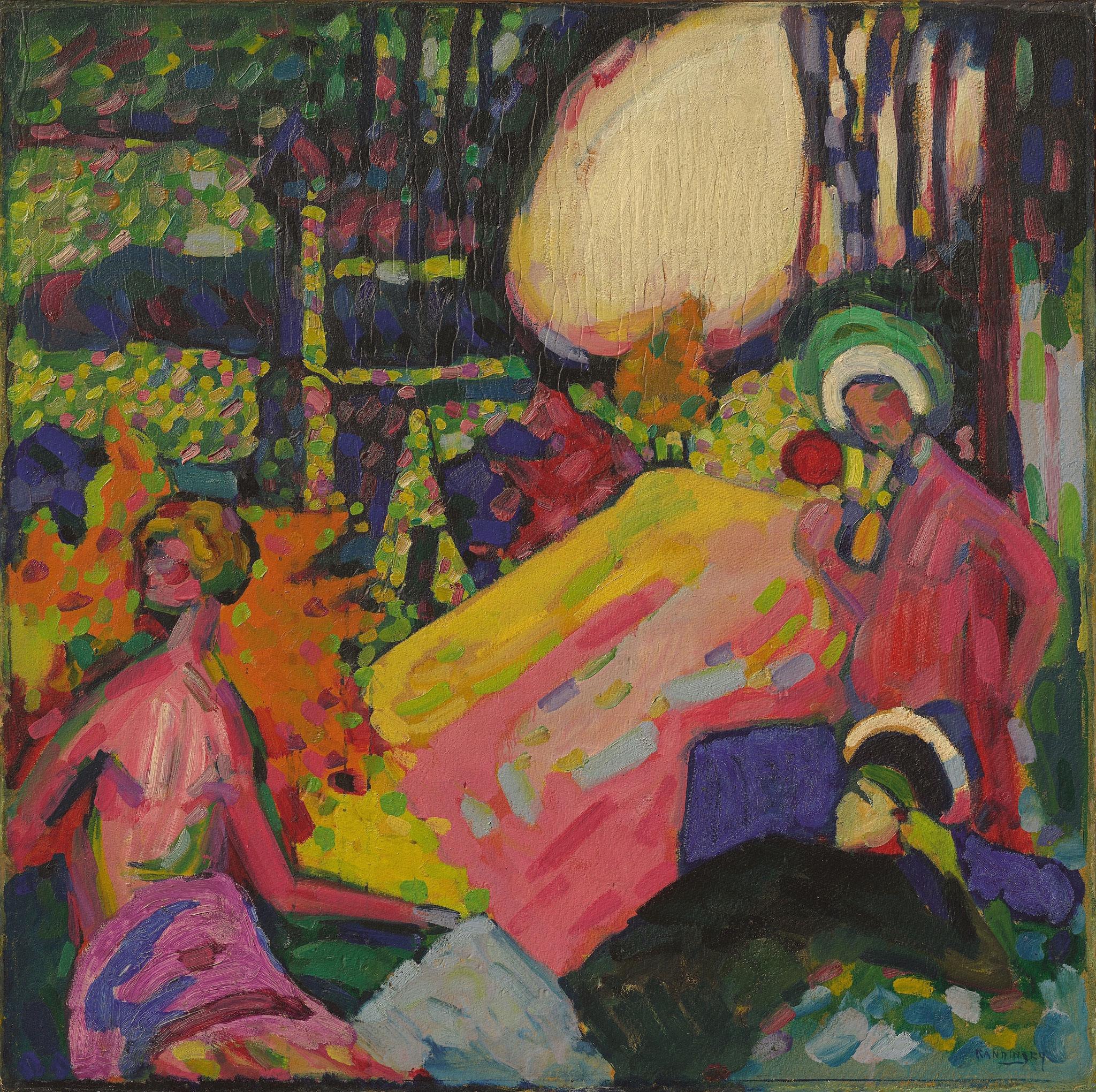 Wassily Kandinsky: Weißer Klang, 1908, Privatsammlung