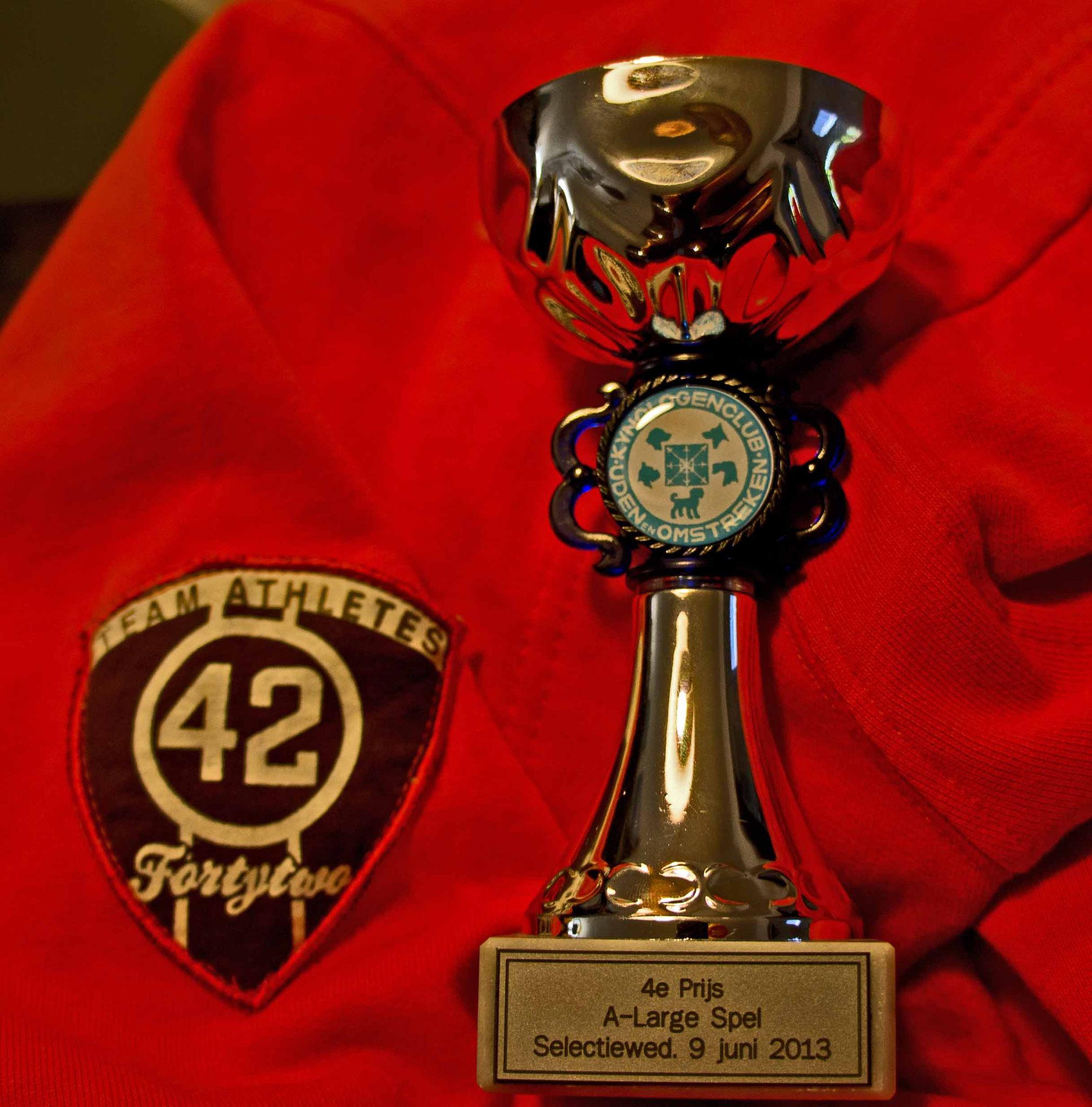 1e wedstrijk KC Uden A-klasse  4e prijs TFU
