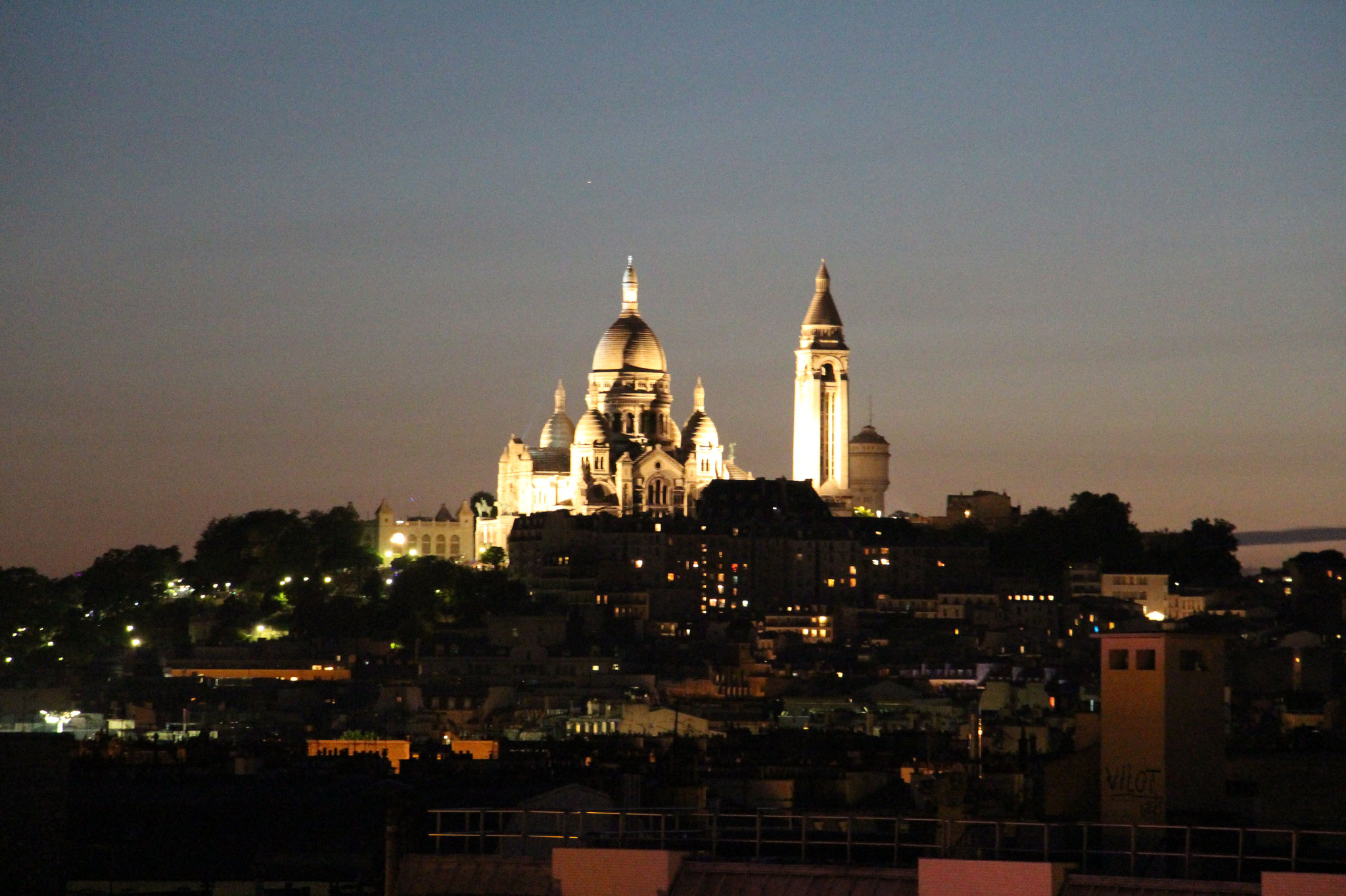 Vue de nuit sur le Sacré-Cœur
