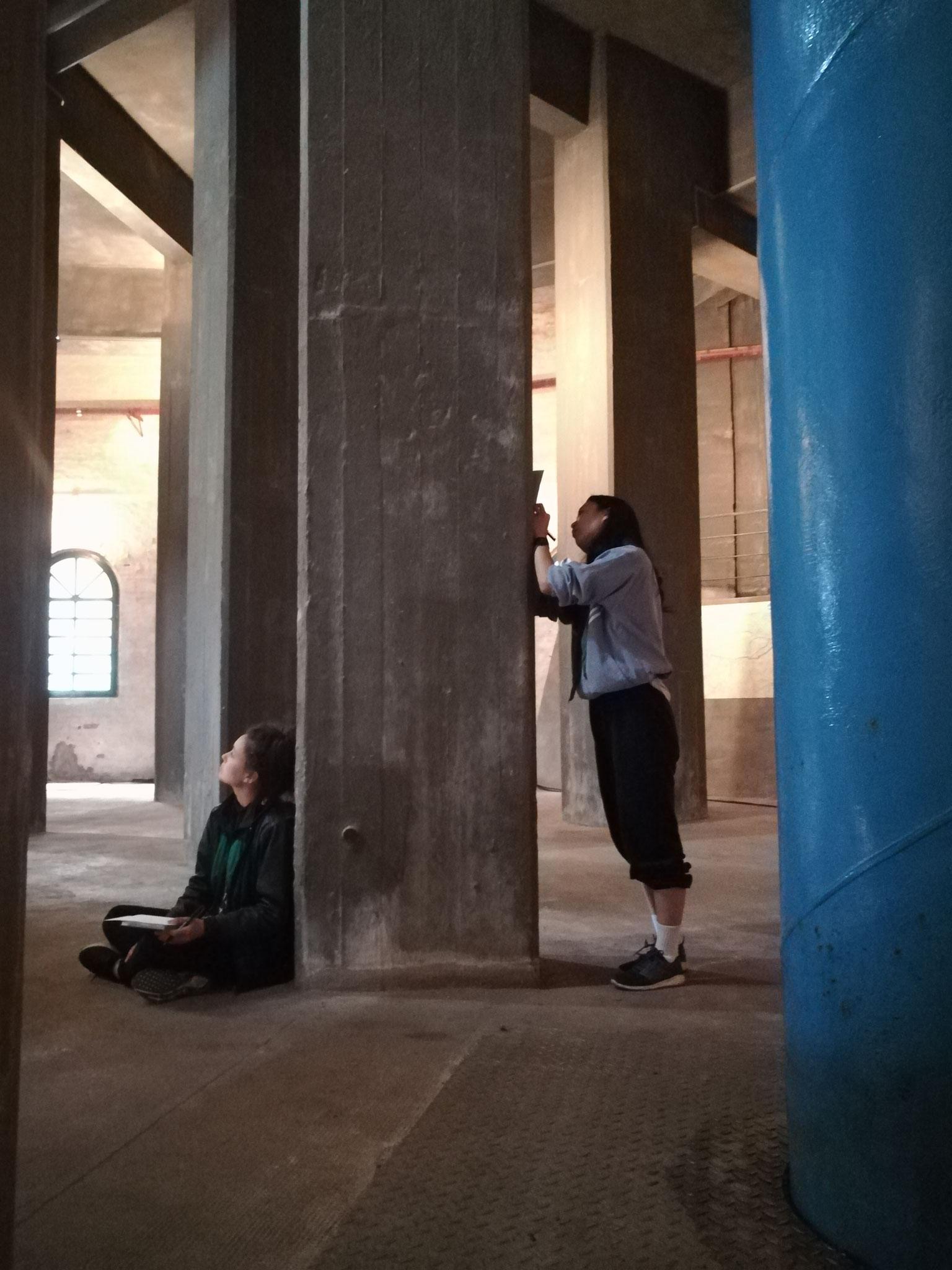 Probenschnappschuss Rika Yotsumoto, Donna-Mae Burrows im Wasserturm Süd