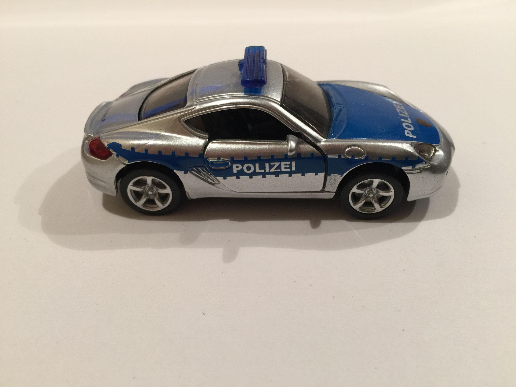 Porsche Cayman S Nr.1433 Polizei/silber/blau
