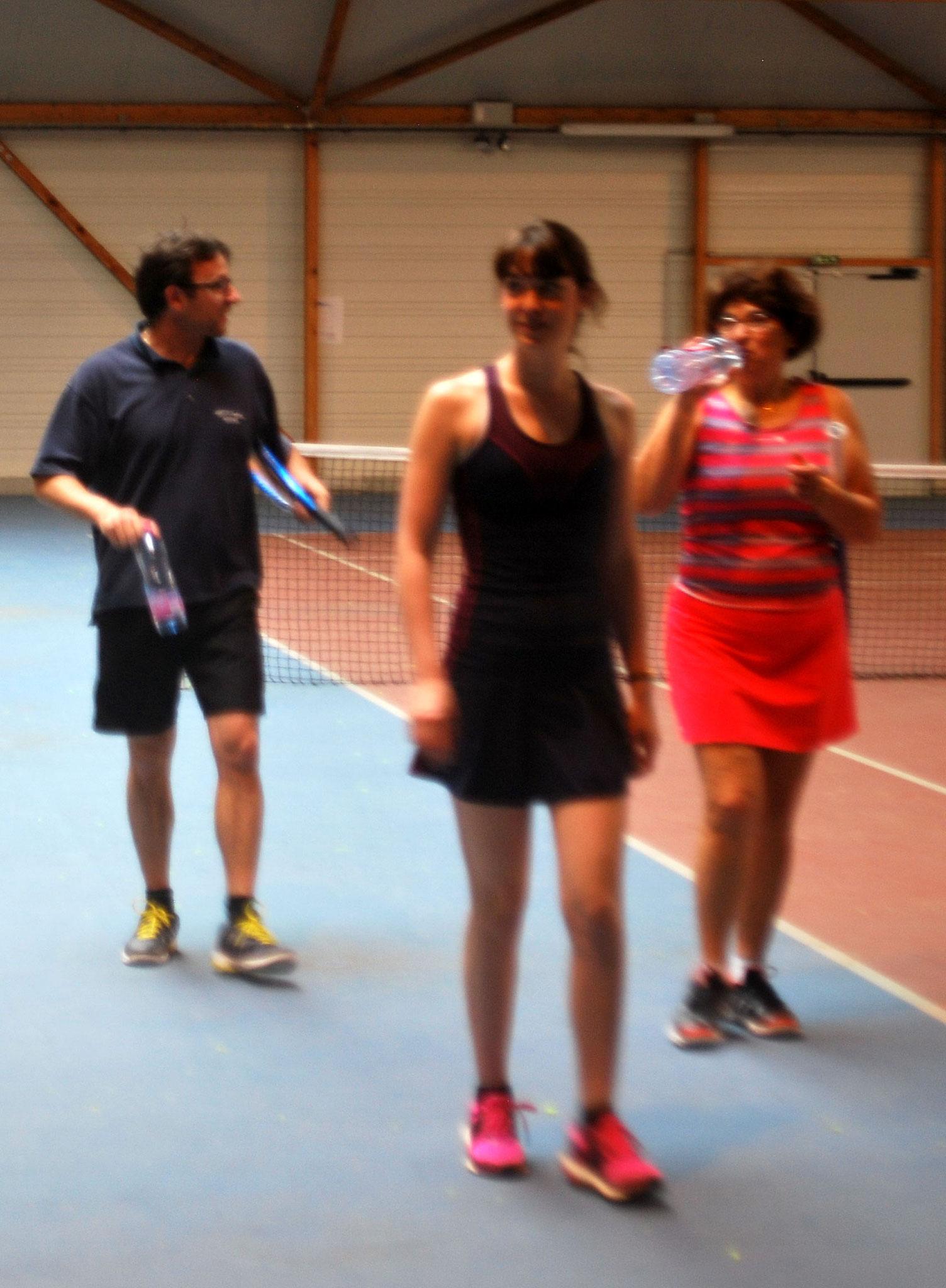 Yann, Amandine et Françoise