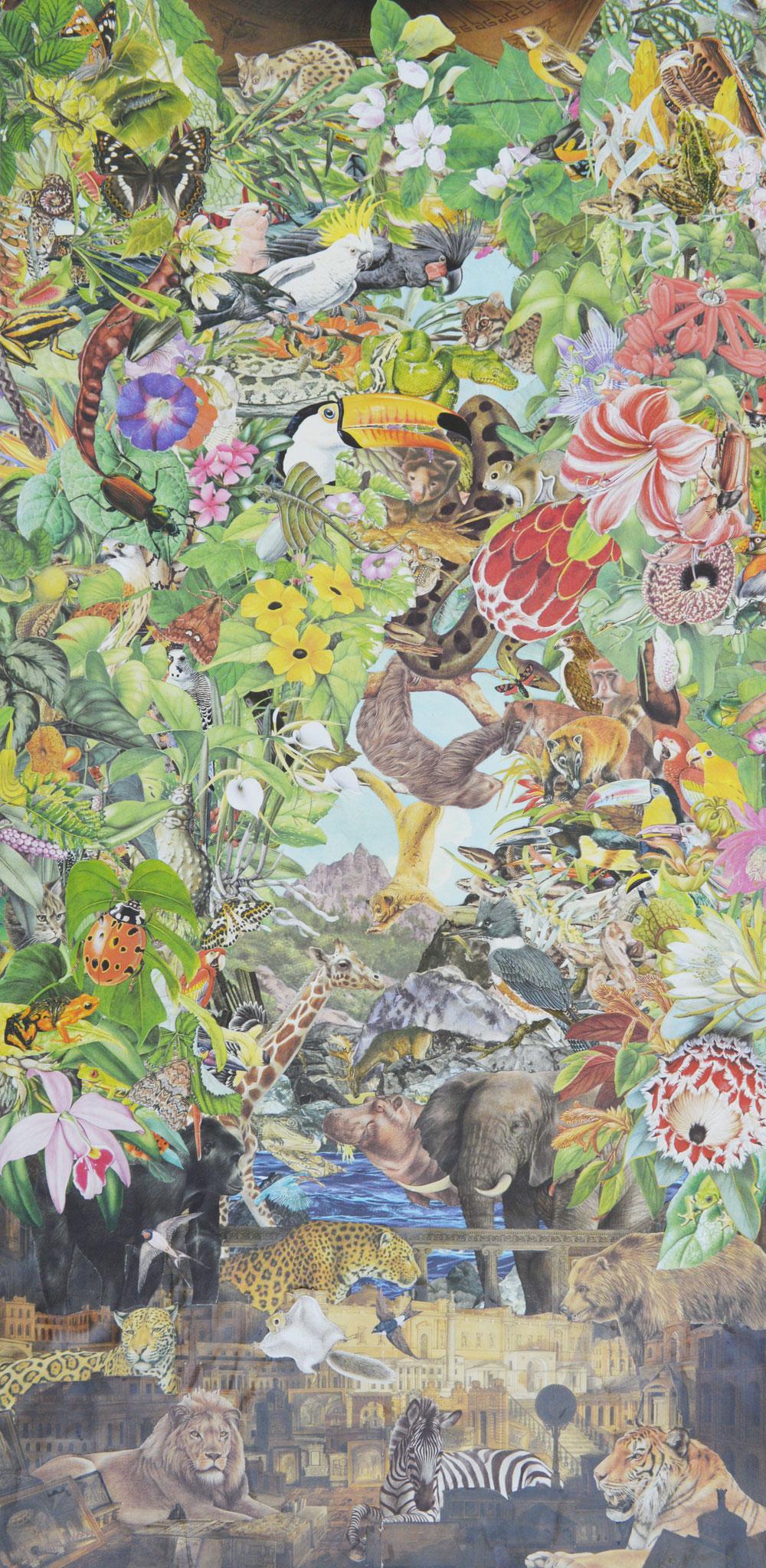 Quentin Montagne. Sir John Soane's Museum, 2020. 87,1 x 43,1 cm. Illustrations découpées et collées sur papier .