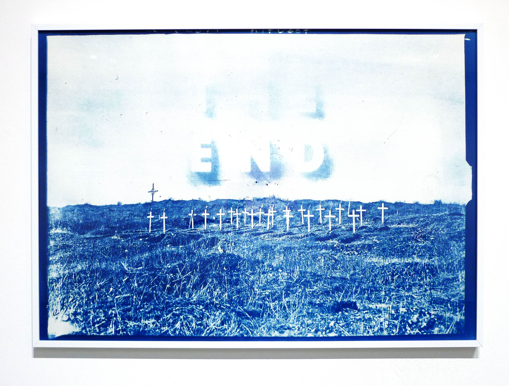 The End, 2017. Cyanotype, 50 x 70 cm. Photo : Loïc Creff