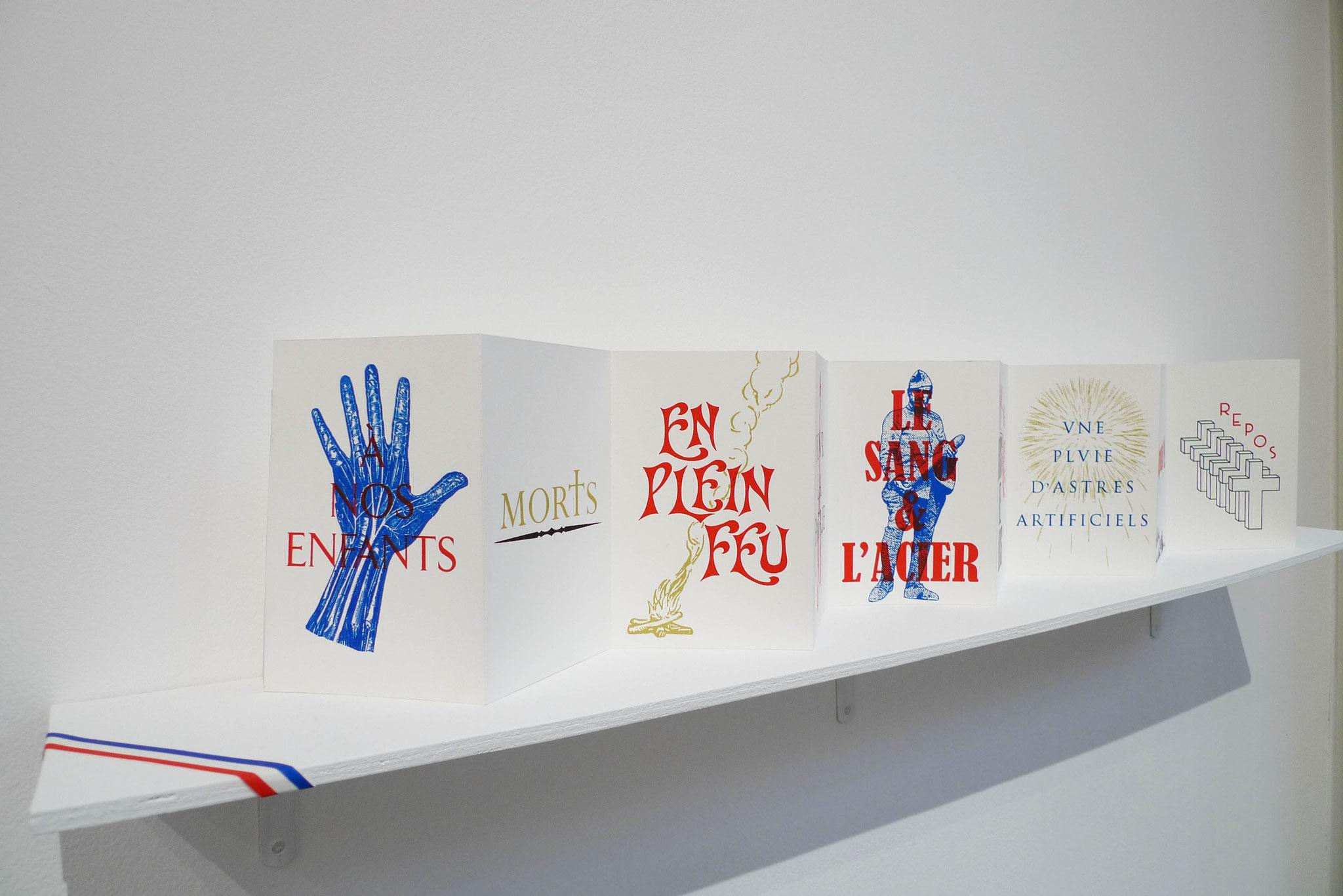 À nos enfants, 2017. Leporello sérigraphié, 50 exemplaires. Photo : Loïc Creff