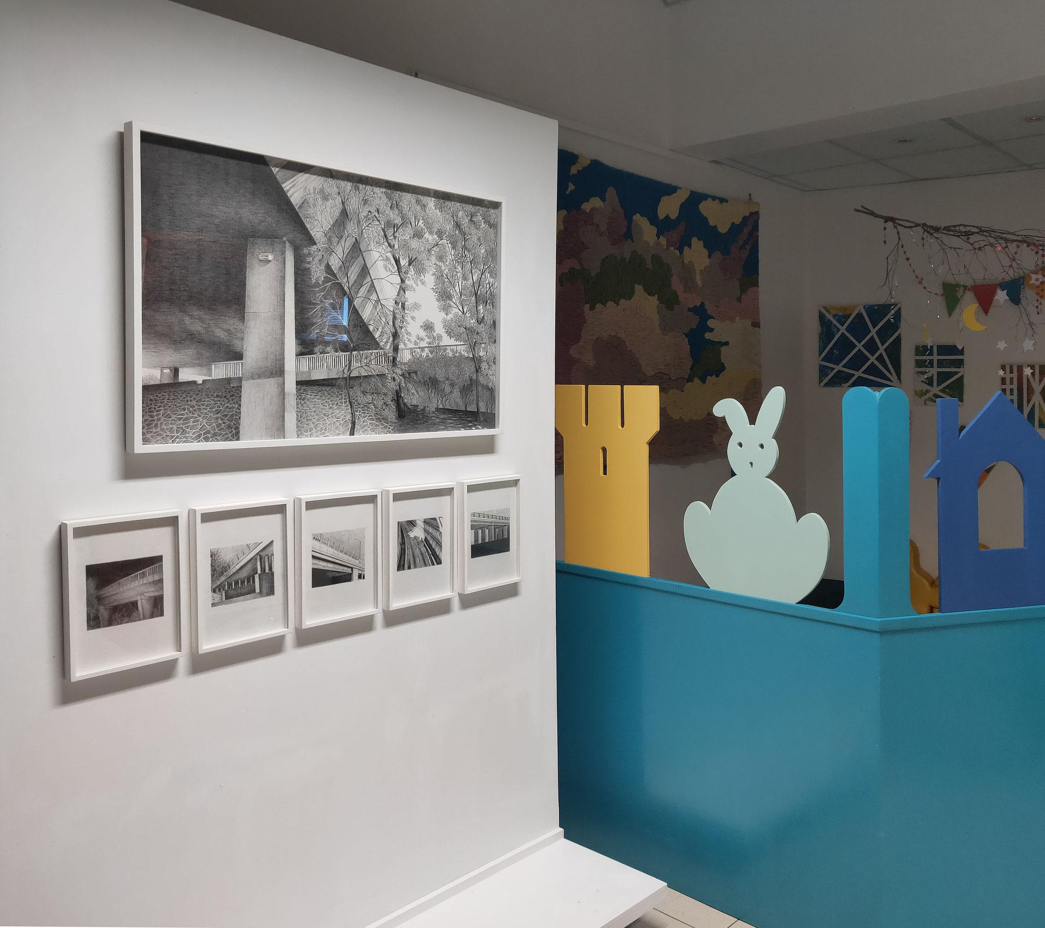 Vue de l'exposition Dorian Cohen, Les images grisées