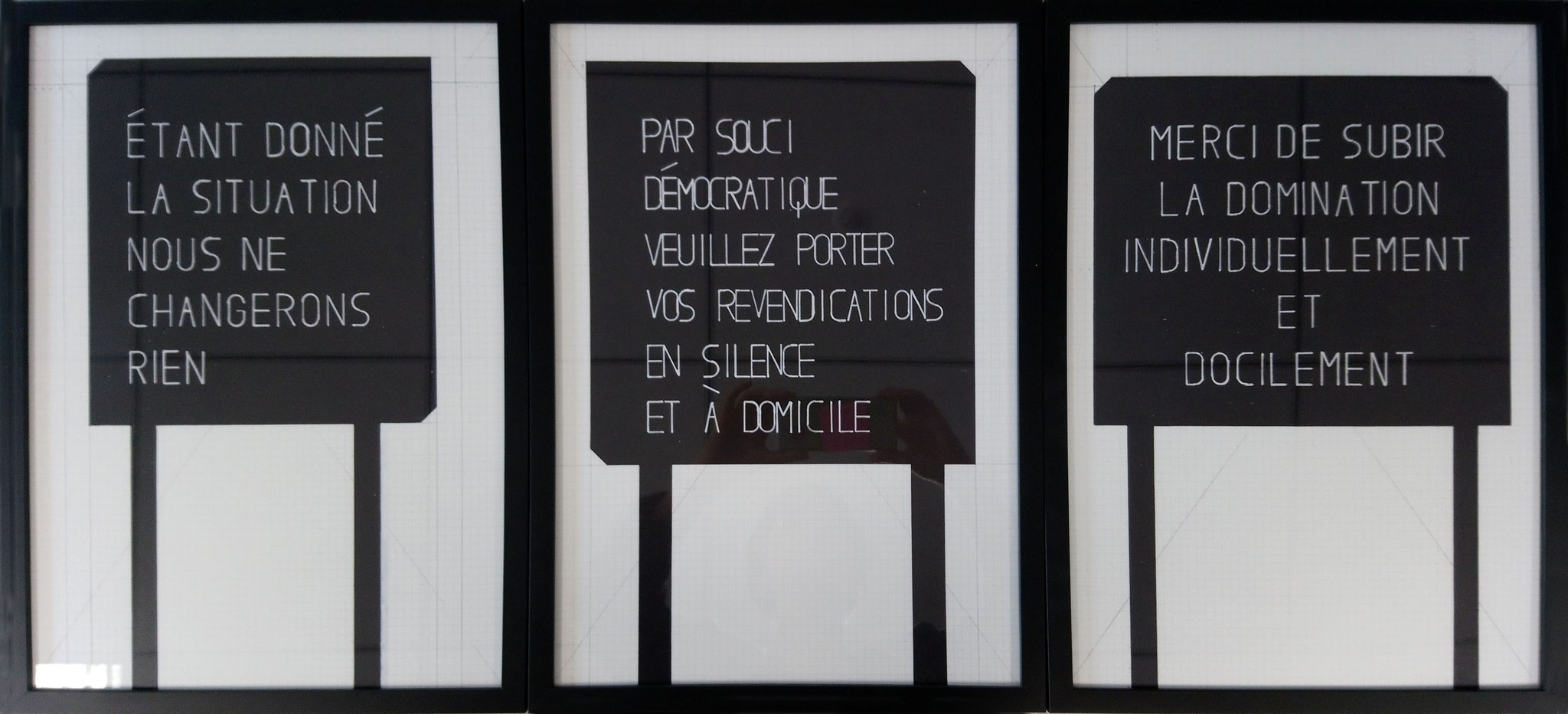 Olivier GARRAUD L'Office du dessin n°149-150-151, 2019 Reproduction de dessins au posca, 42 x 29,7 cm