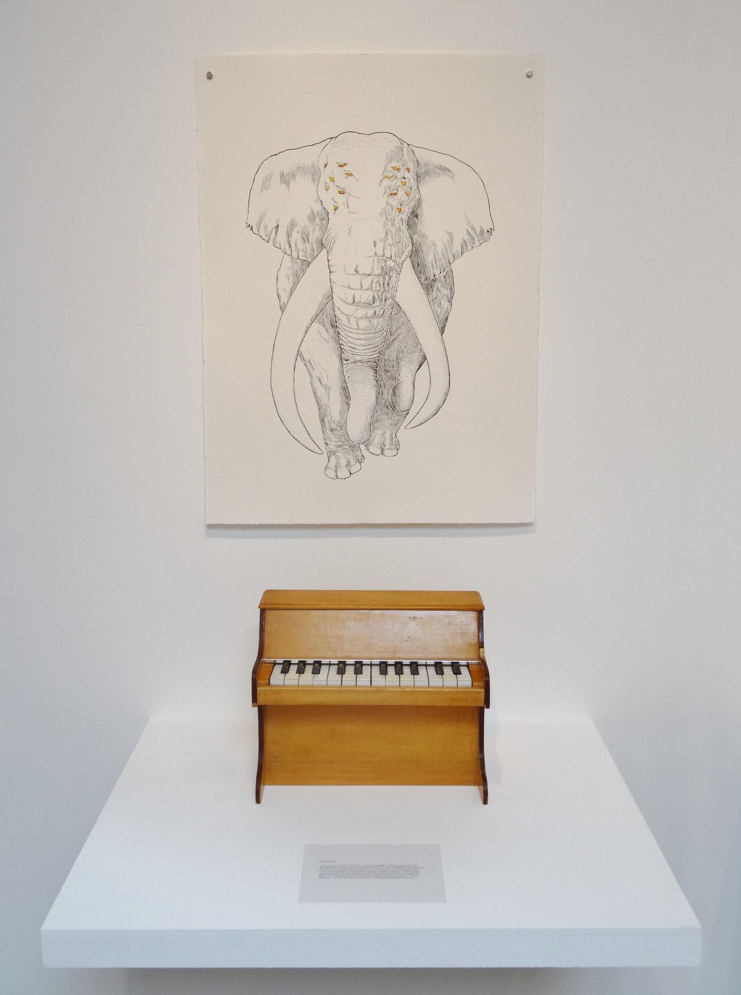 Noël Rasendrason, Asudorus, 2016. Encre sur papier Arches 300 gr., 56 × 72 cm.