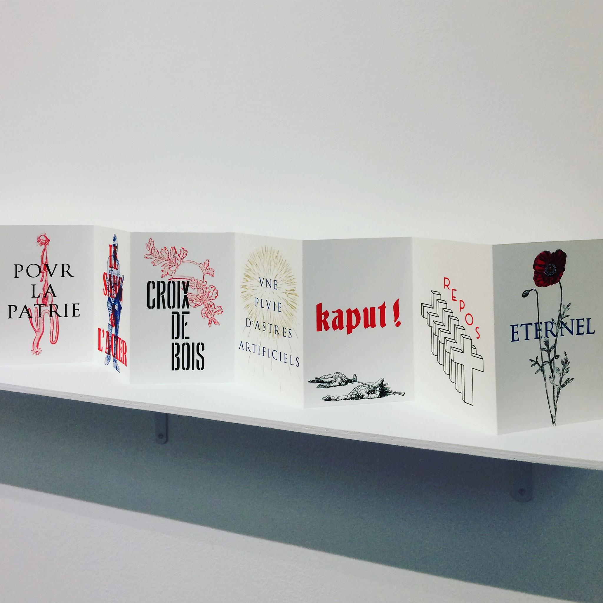 À nos enfants, 2017. Leporello sérigraphié, 50 exemplaires. Photo : L'aparté