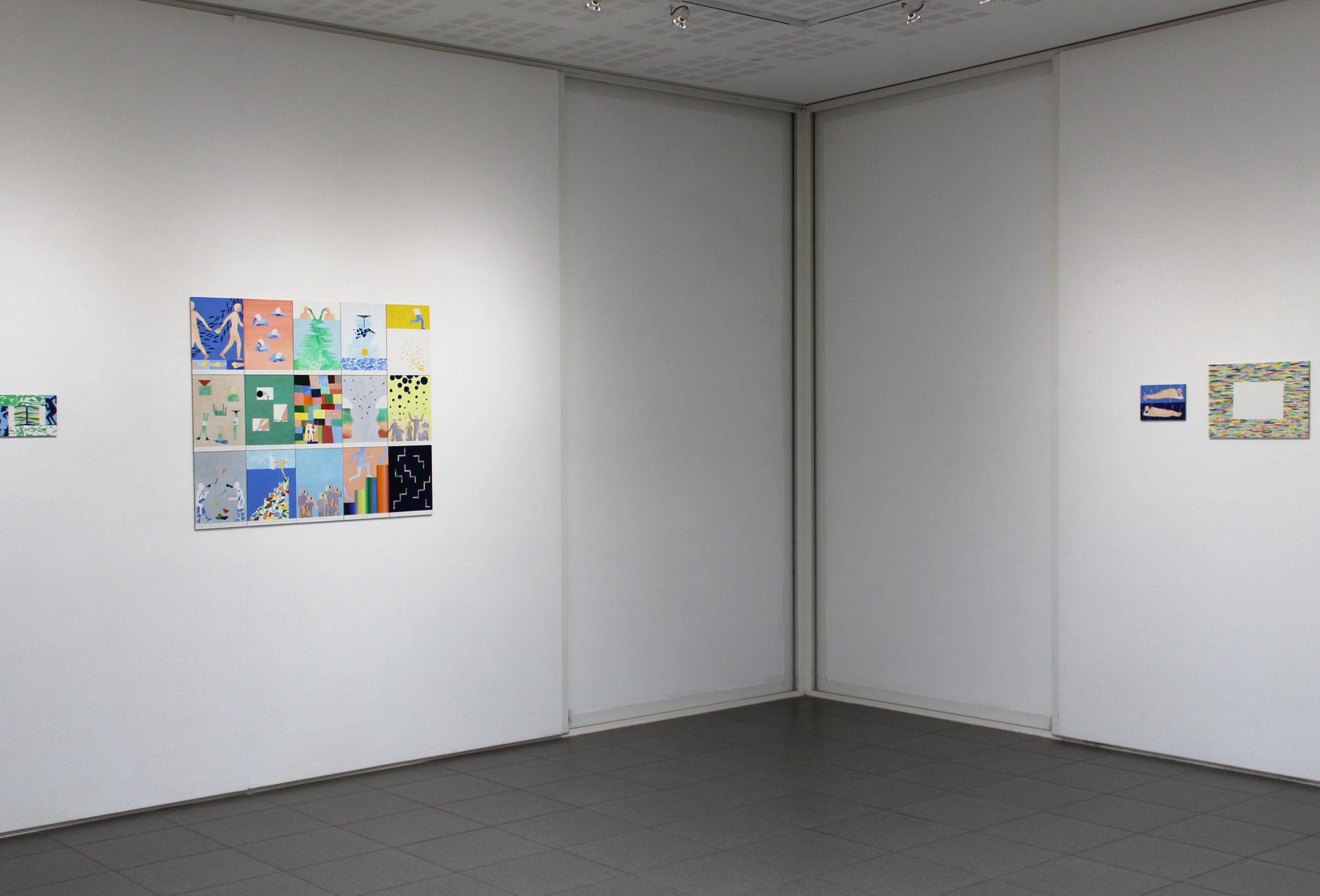 """Vue de l'exposition Mathilde Rives, """"L'horizon de la ligne"""".vvv"""