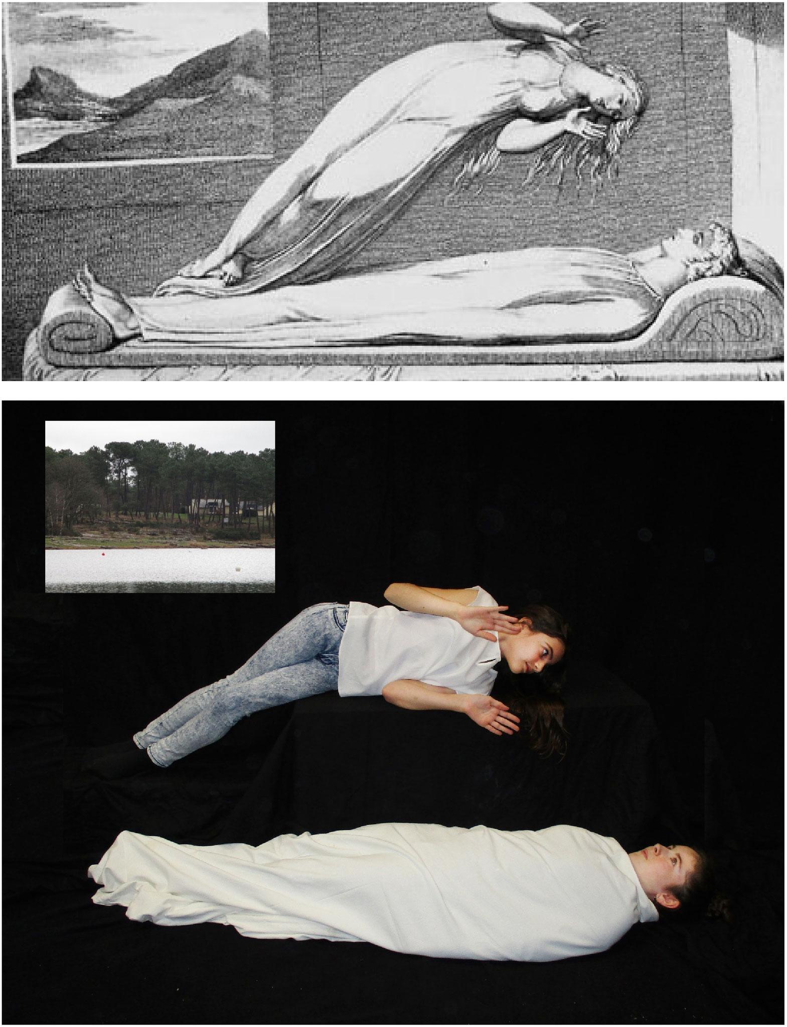 """Mise en scène inspirée d'un tableau du peintre William Blake, """"Apophtegme"""". ."""