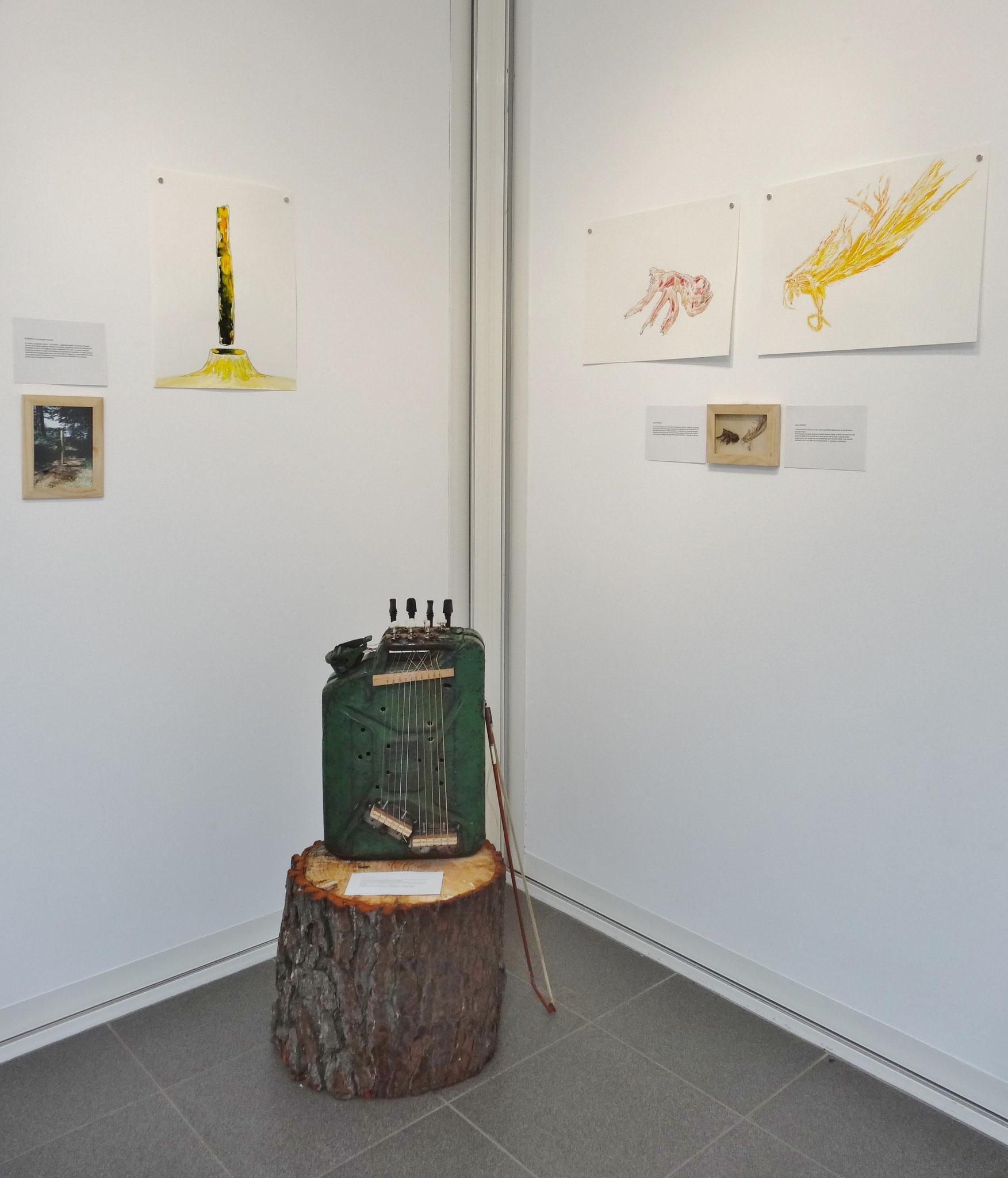 Vue de l'exposition Karine Bernadou & Noël Rasendrason, D'esprits et de cris