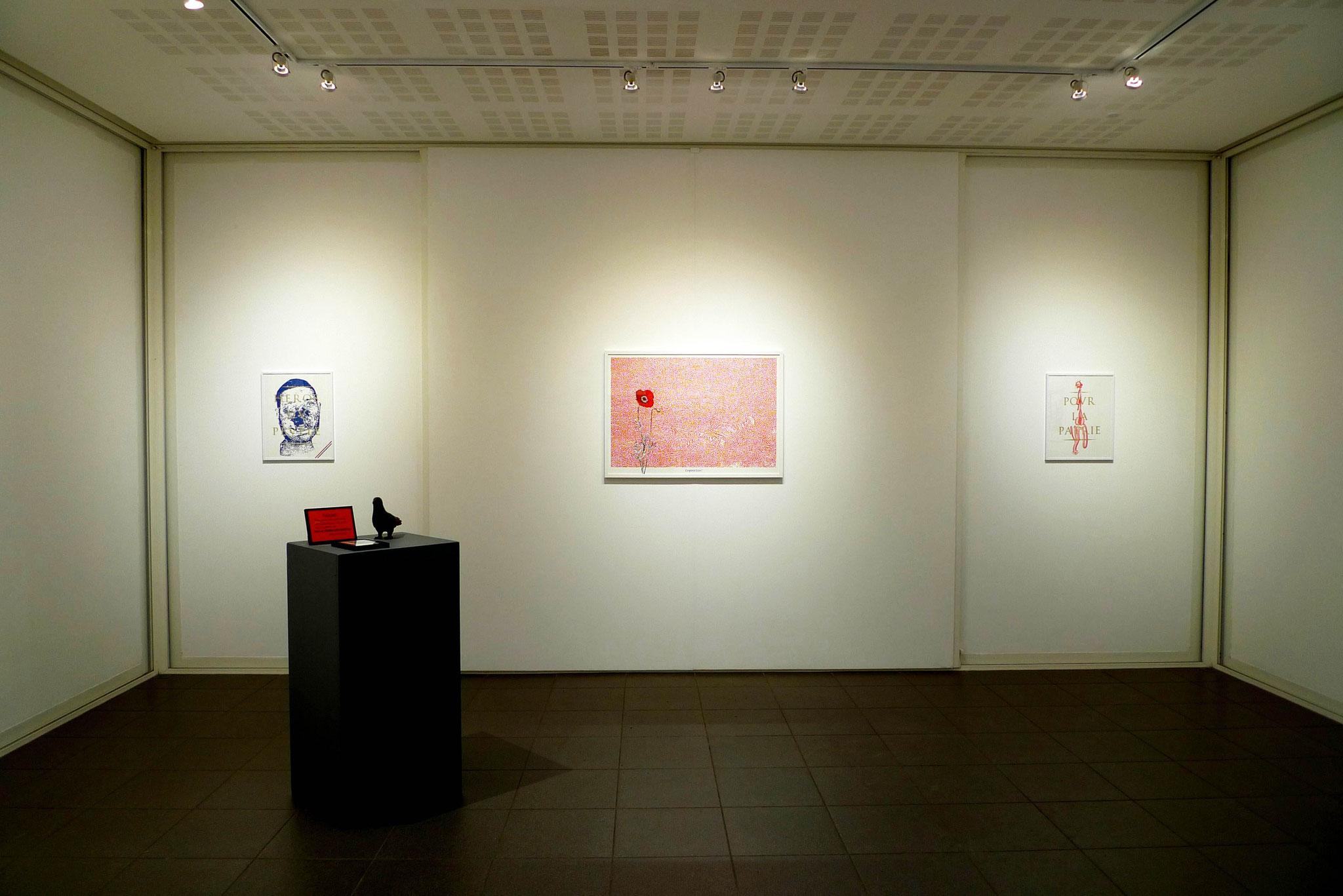 Vue de l'exposition Loïc Creff, Des Astres Artificiels. Photo : Loïc Creff