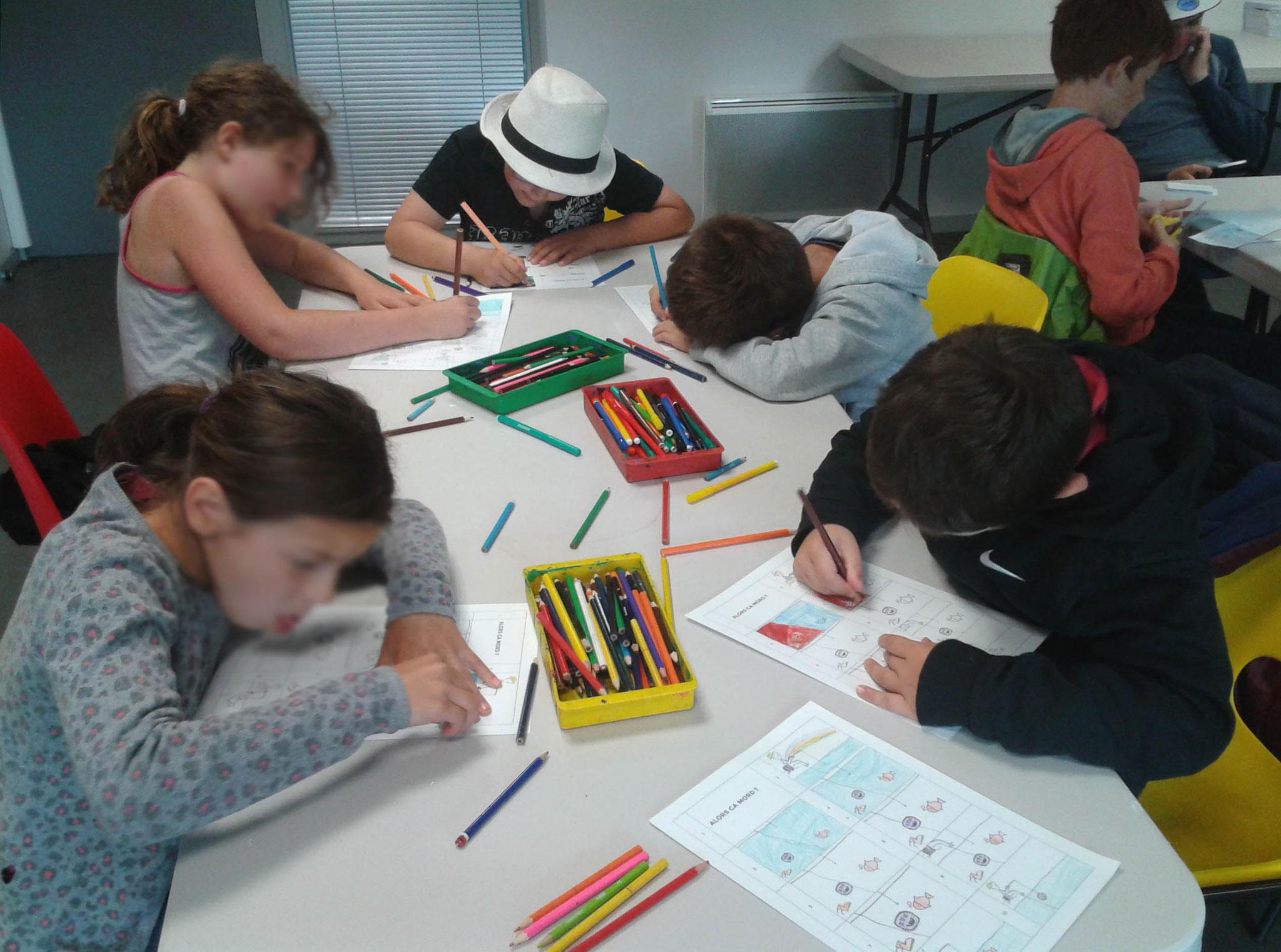 """Atelier """"fish book"""" avec les centres de loisirs"""