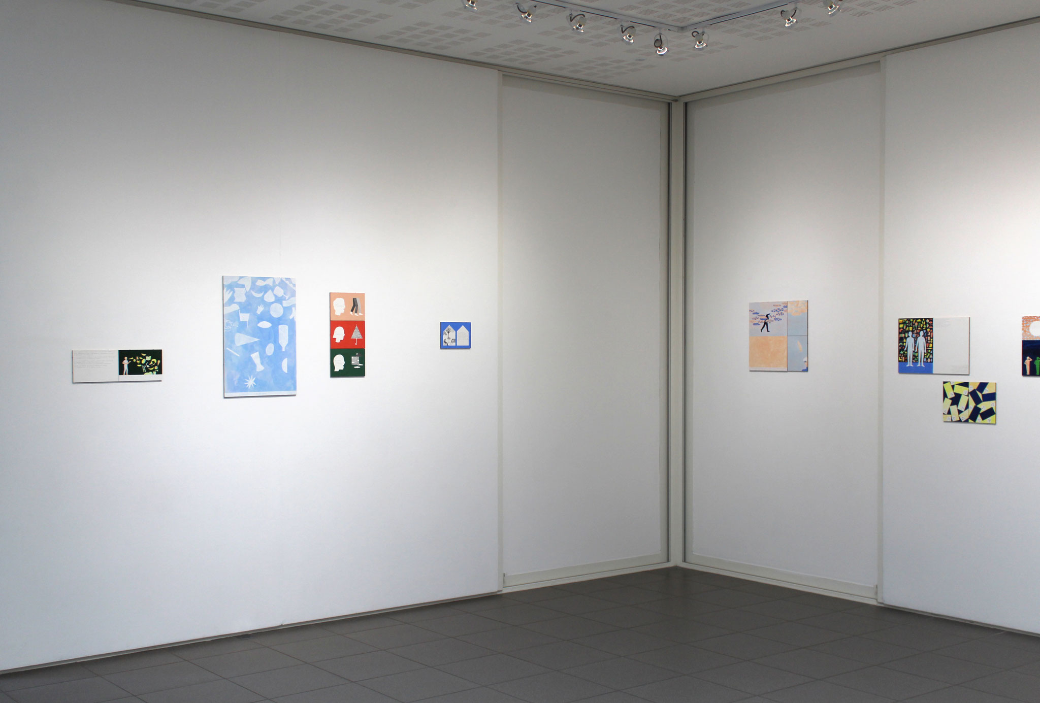 """Vue de l'exposition Mathilde Rives, """"L'horizon de la ligne""""."""