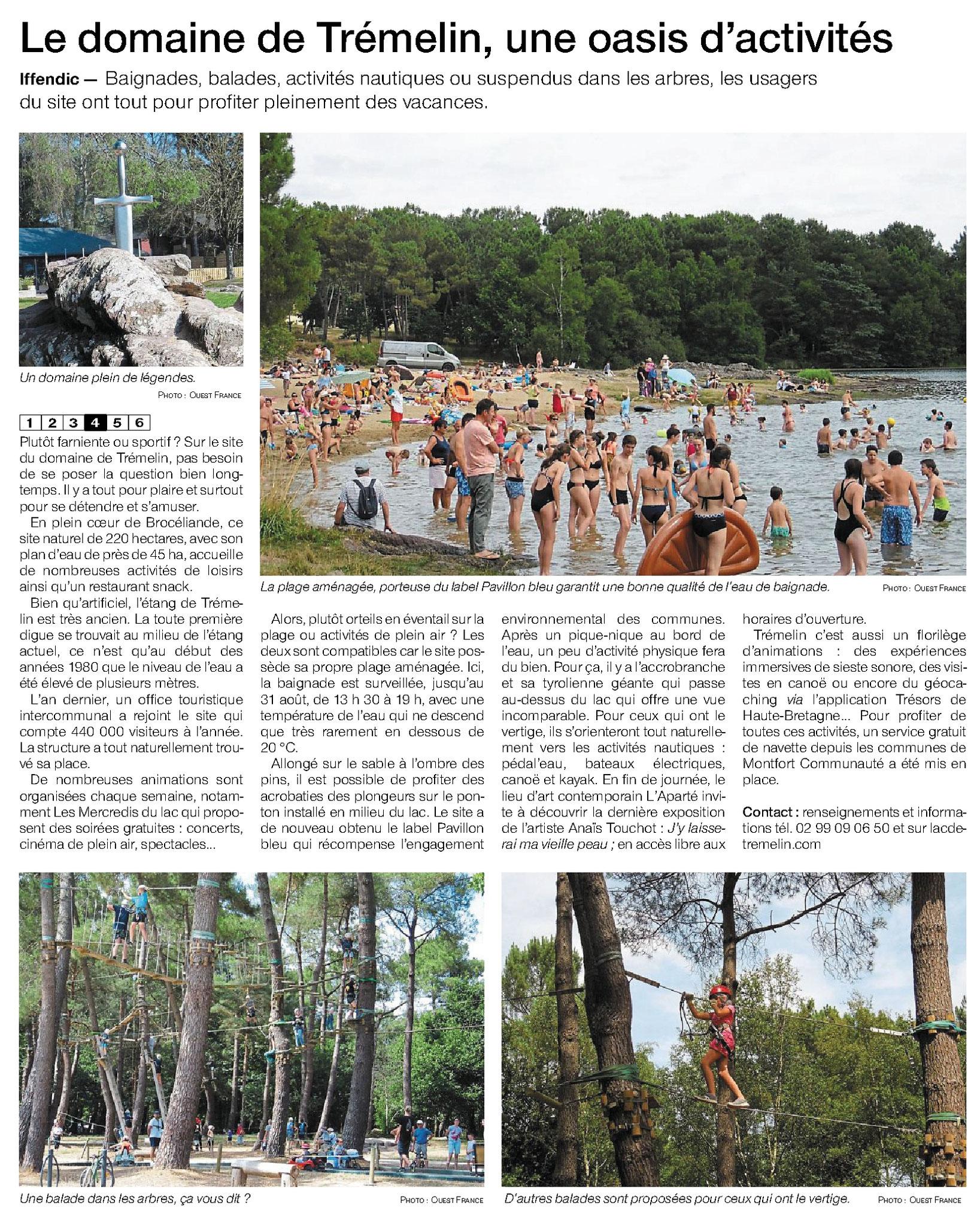 Article Ouest-France du 30 juillet 2019