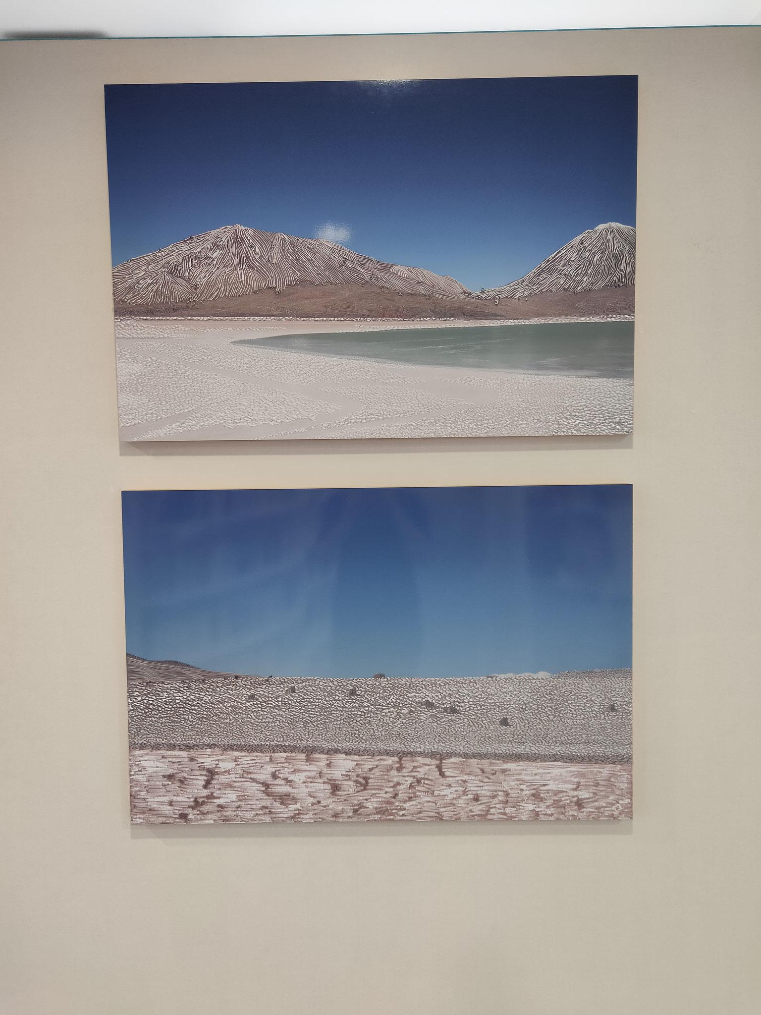 """Raphaëlle Peria Série """"Les cieux bleus"""" 10 x 15cm, 2013"""