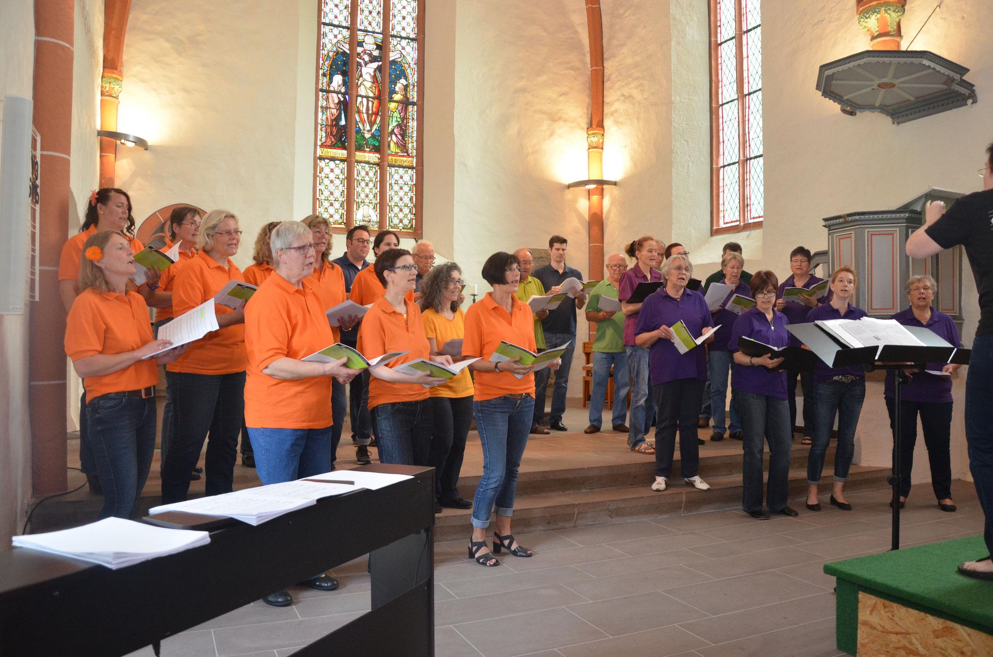 """Sommerkonzert 2015 mit den """"Flotten Tönen"""" und dem Ensemble """"Schön Schräg"""""""