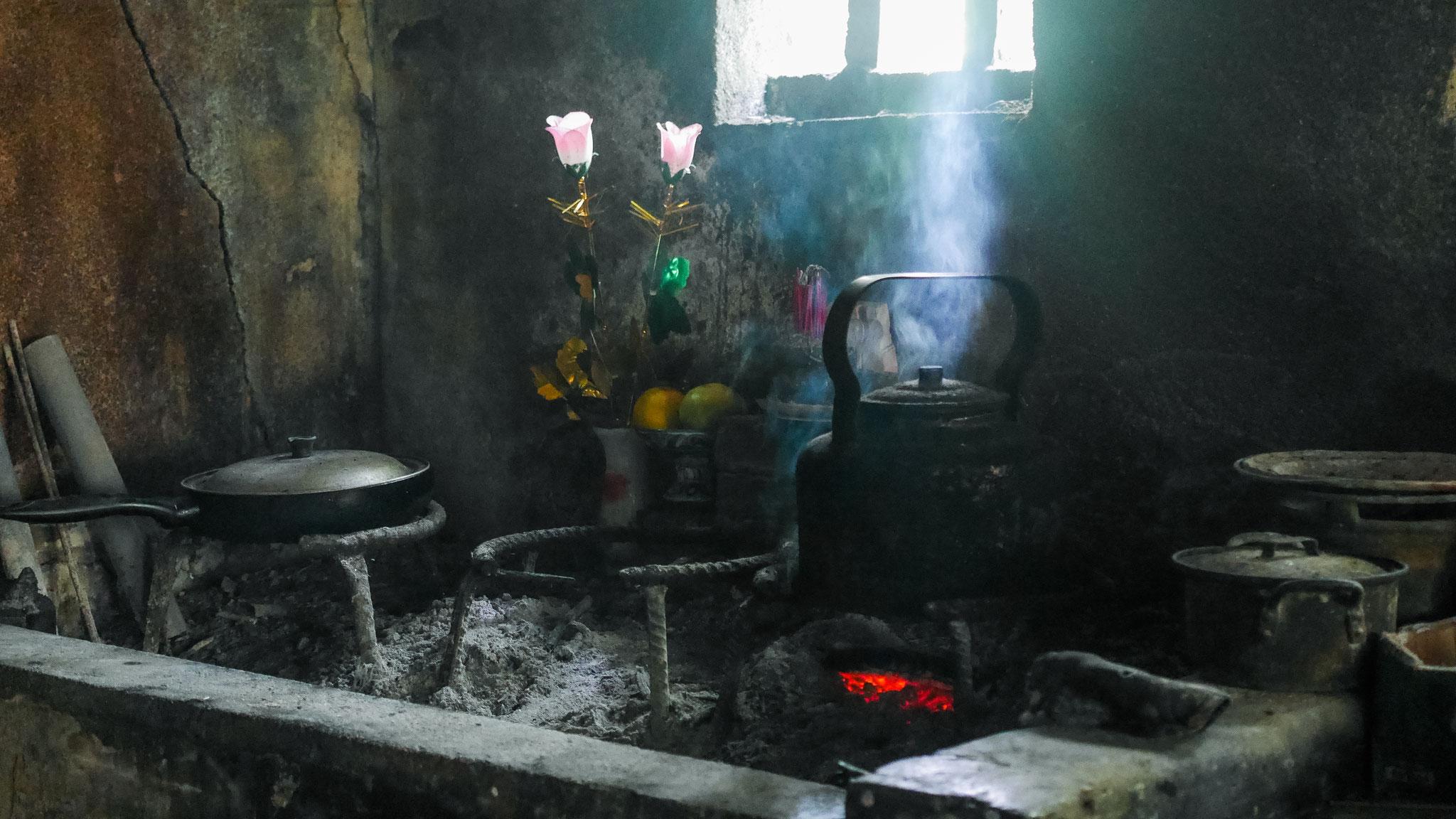 Hue - Besuch in einem Feng Shui Garden - Küche