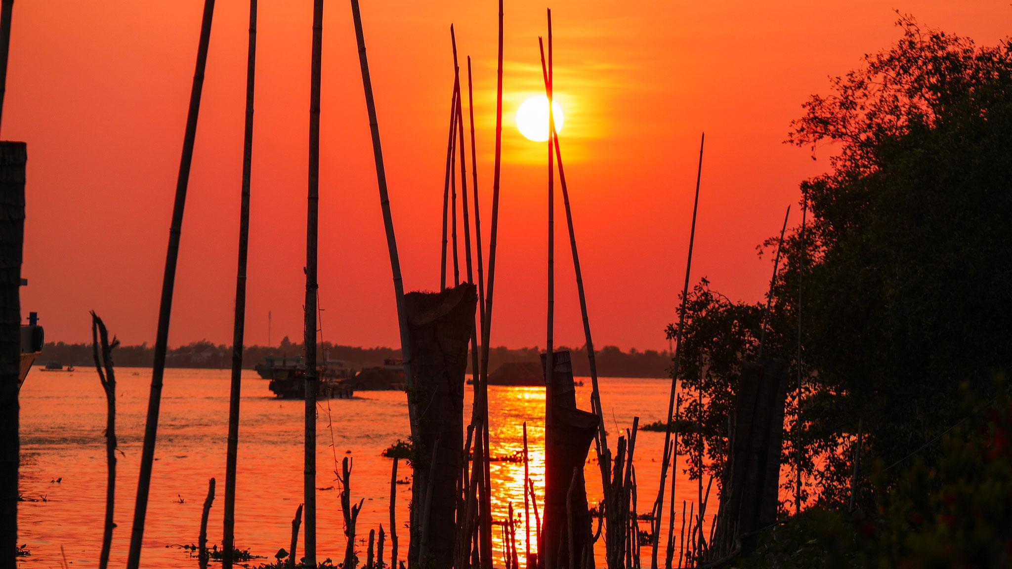 Mekong Lodge - Sonnenuntergang