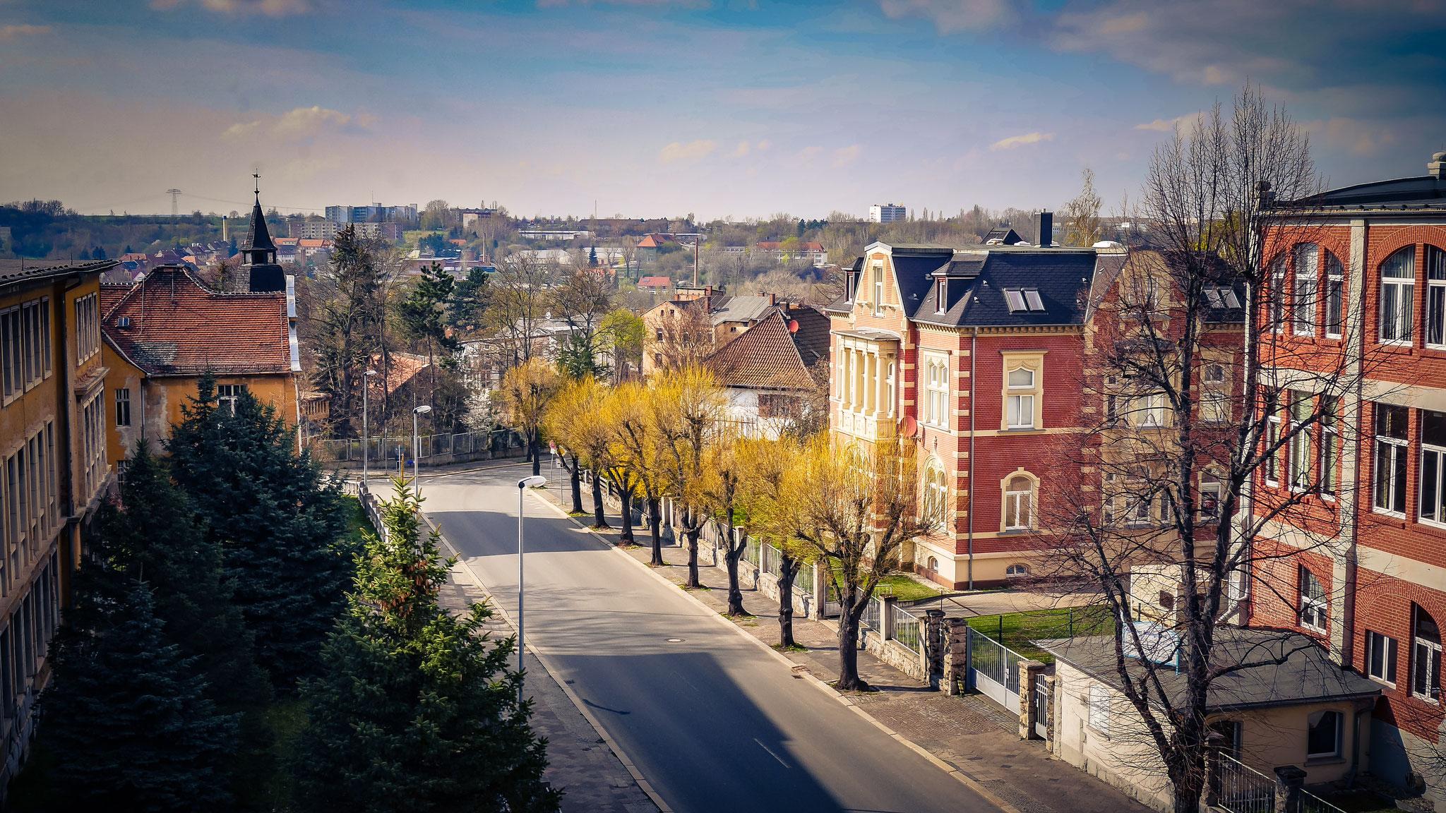 Blick zur Stadt vom Institut MPFA
