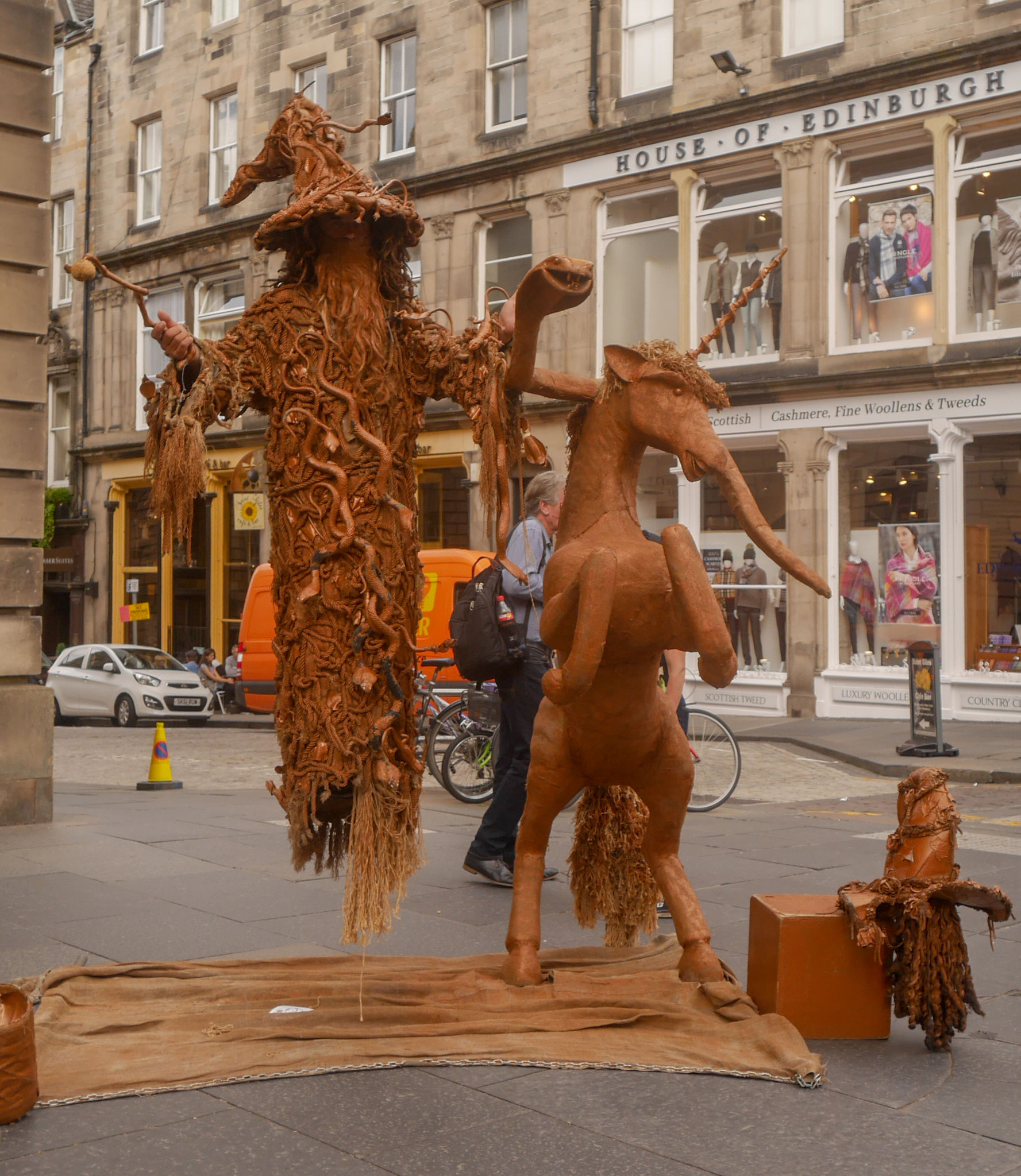 Straßenkunst Royal Mile
