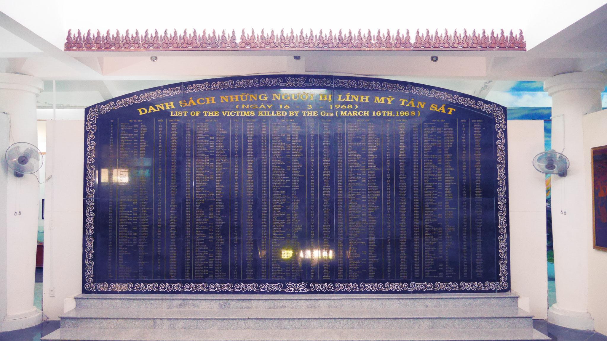 My Lai - Gedenktafel für die sinnlos Ermordeten
