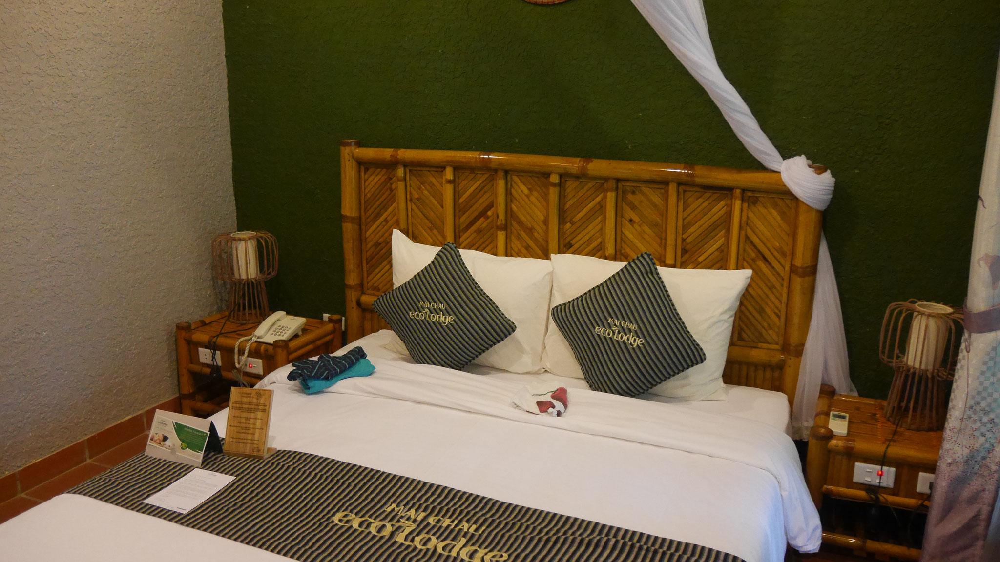 ...unser Hotelzimmer in der Ecolodge Mai Chau