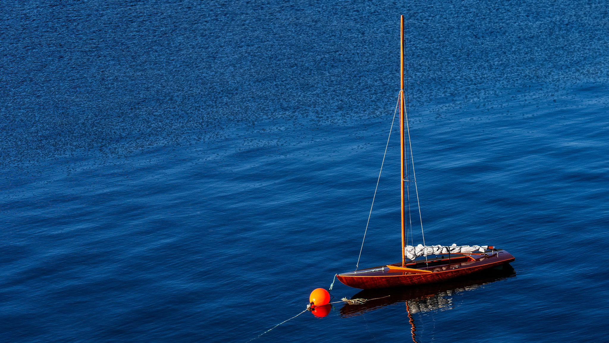 Segelboot unterhalb unseres B&B