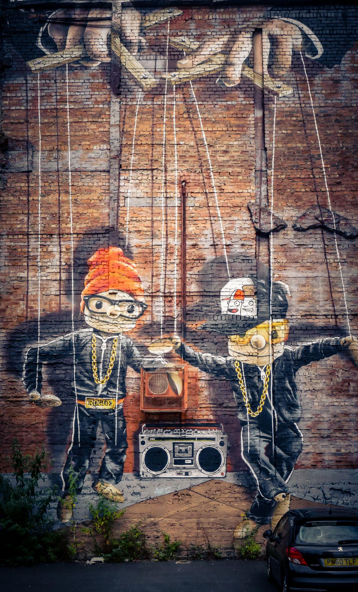 Kunst auf de nStraßen von Glasgow - Graffiti