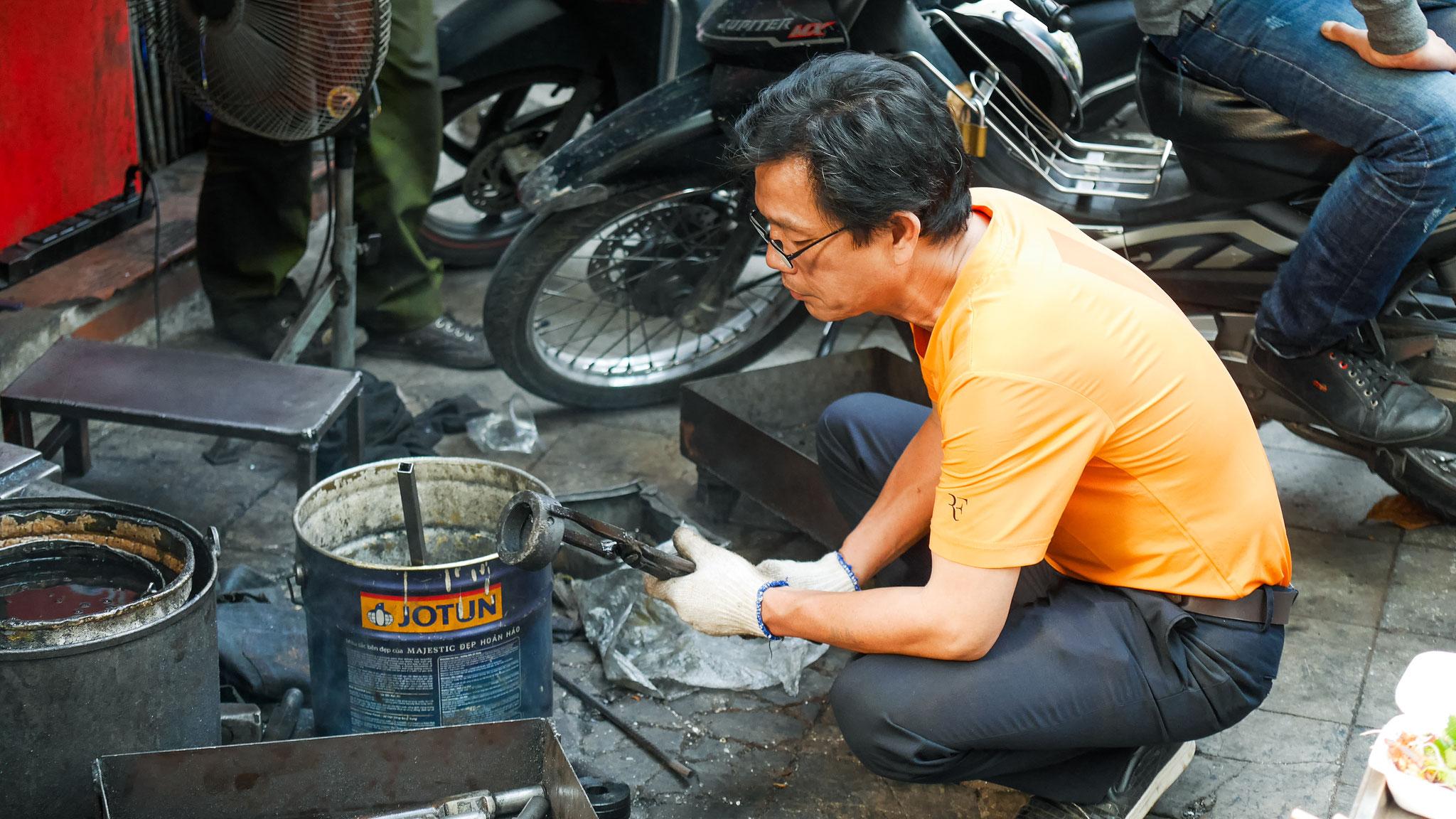 Hanoi - immer am Basteln