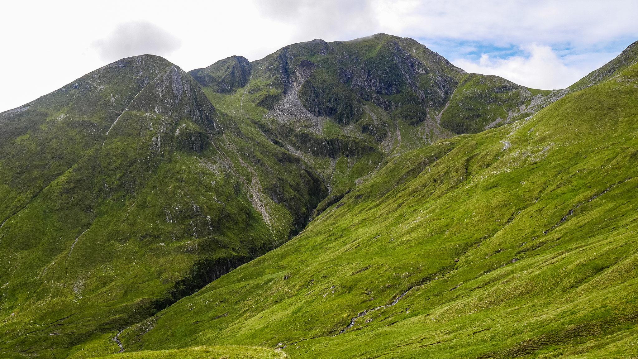 Aufstieg zum Stob Coire a'Chaim (981m)