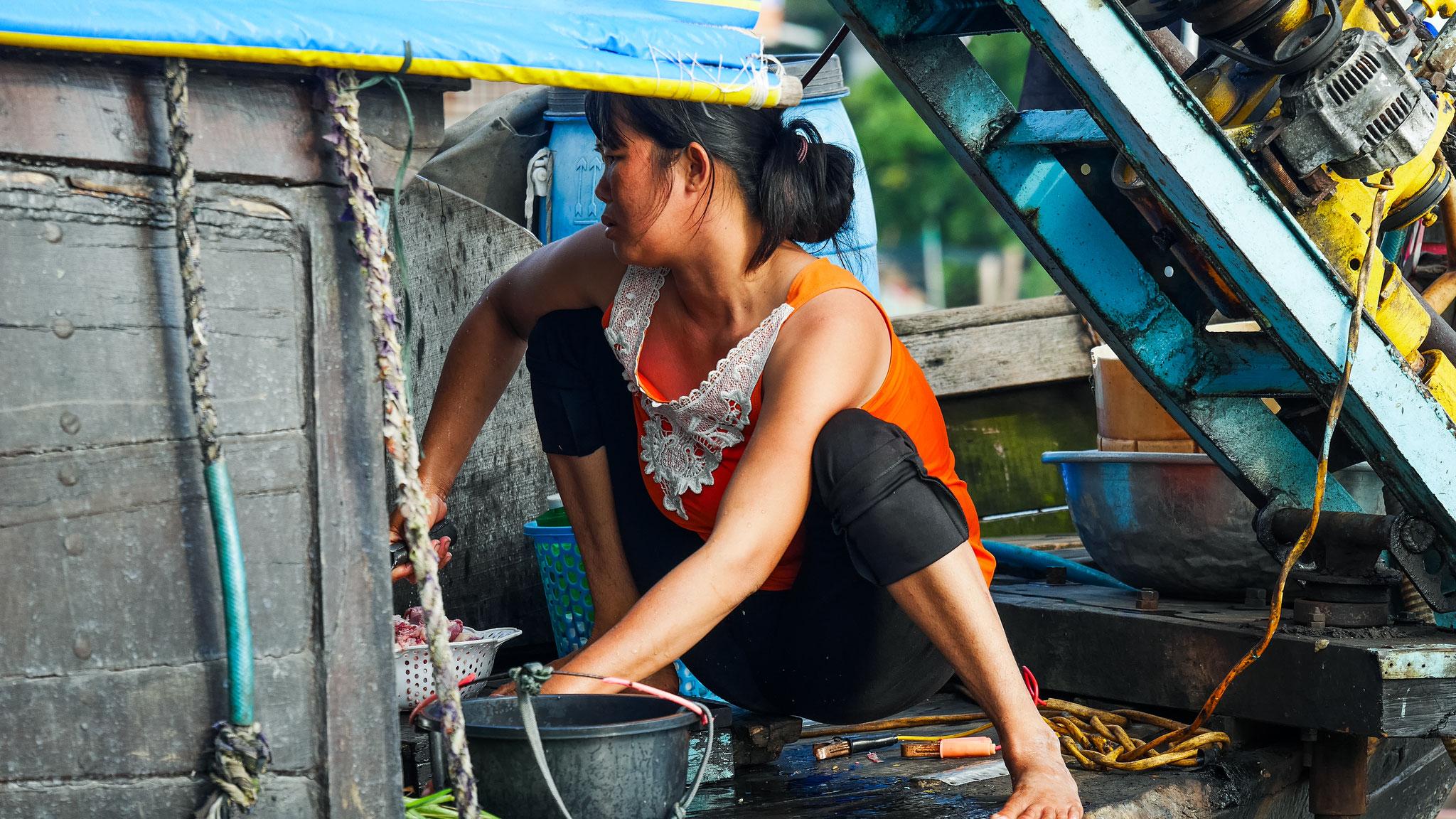 unterwegs im Mekong Delta - die schwimmenden Märkte