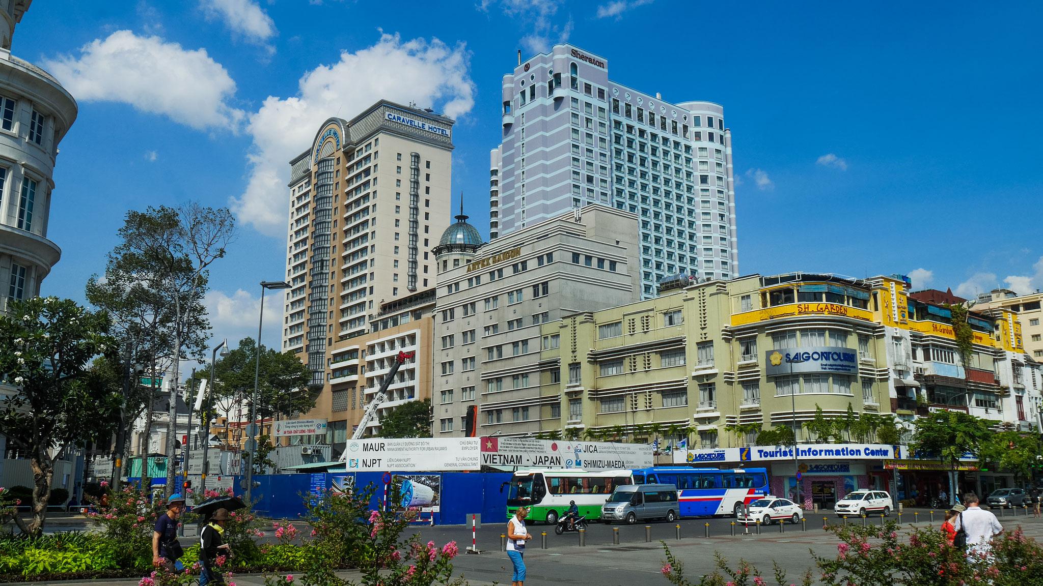 Ho-Chi-Minh-Stadt (Saigon) - in diesen Hotels waren die Stützpunkte der USA während des krieges