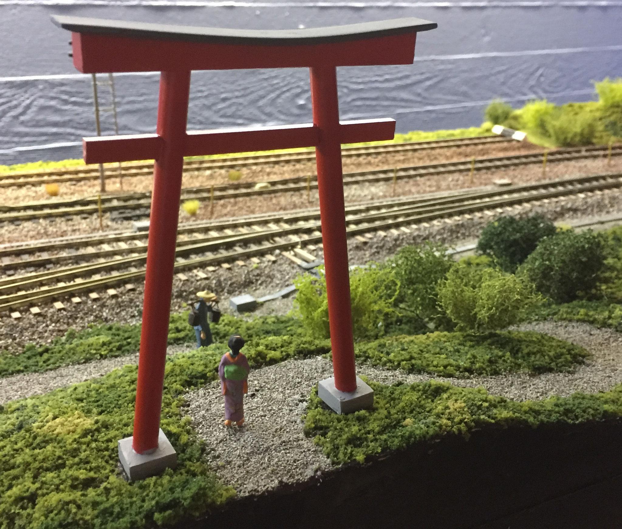 Shrine and Geisha