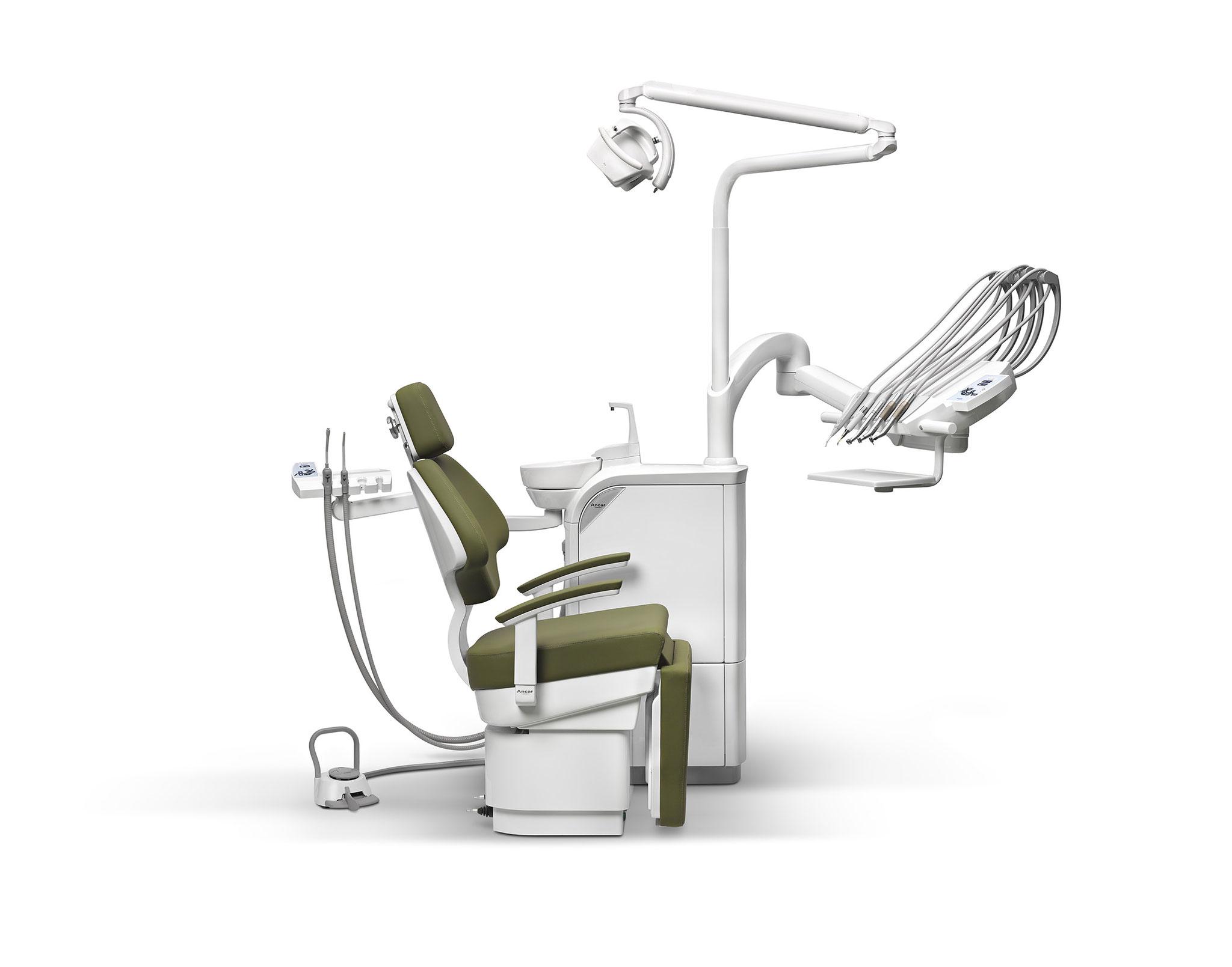 SD-715 Patientenstuhl S7 + SD-150 mit Schwingbügel