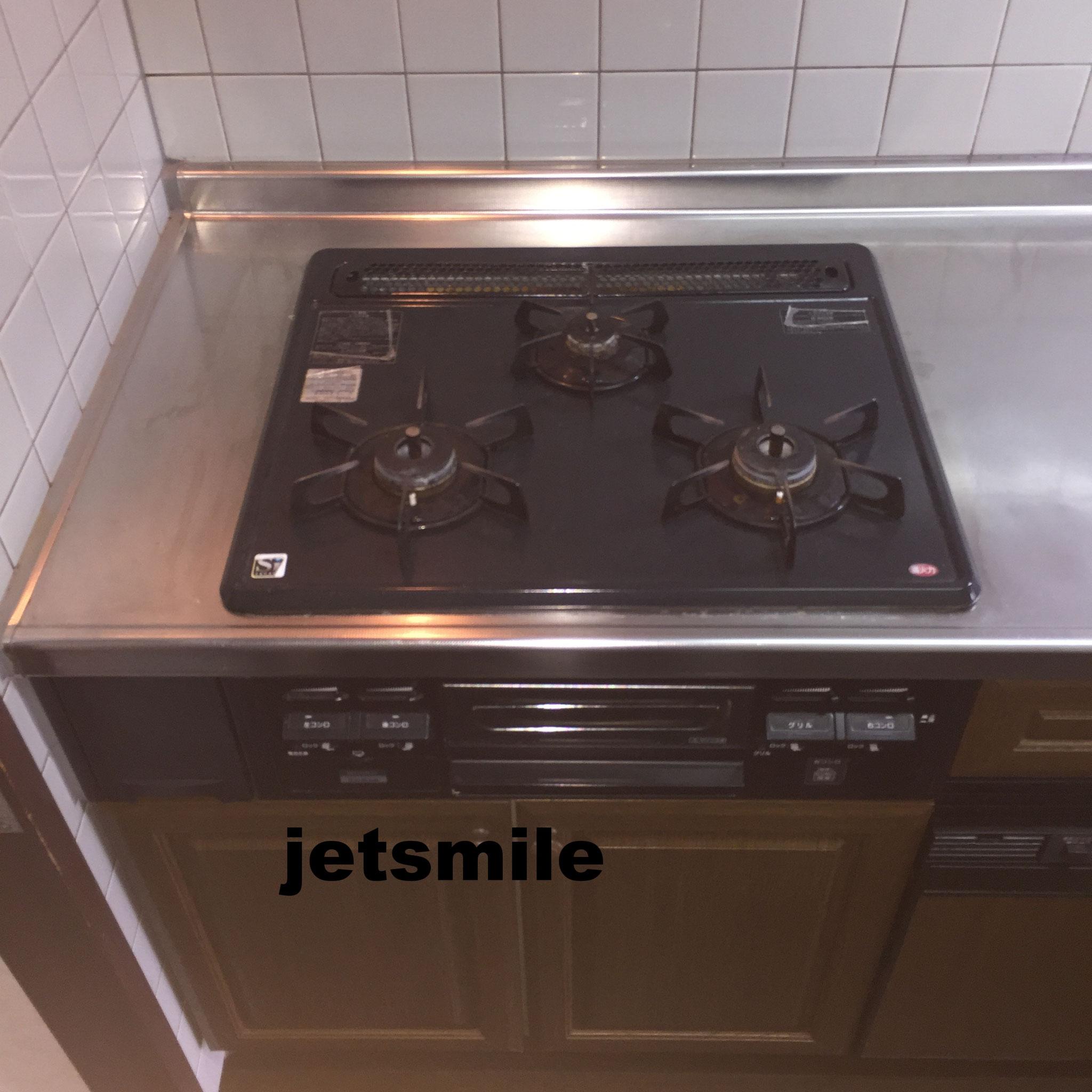 キッチン、ガスコンロの油こげつき、一掃します。詳しくはコチラ