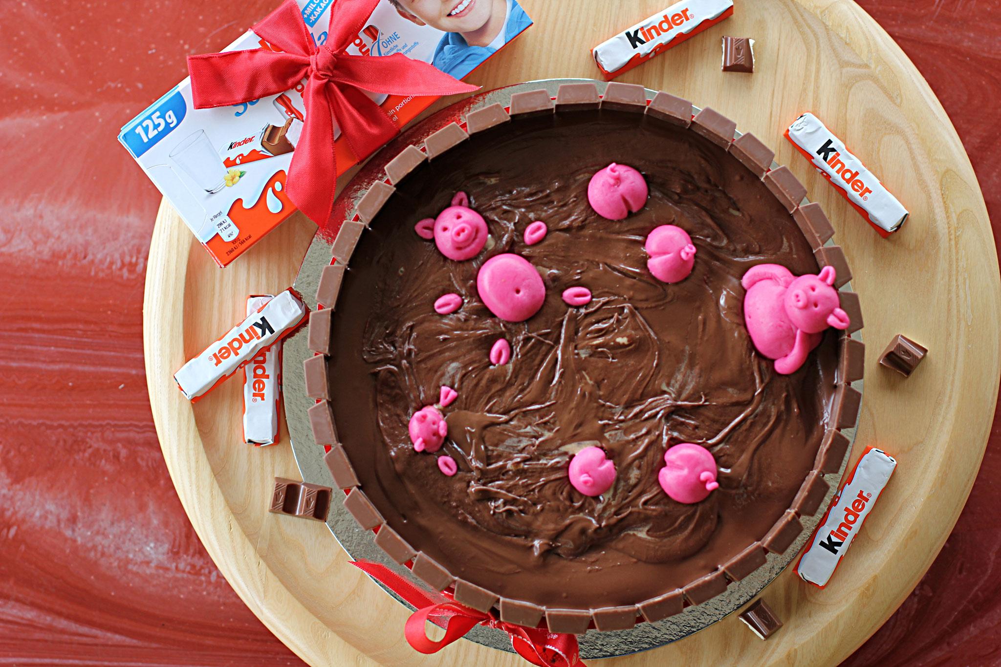 Et voila, so sieht die fertige Torte von oben aus!